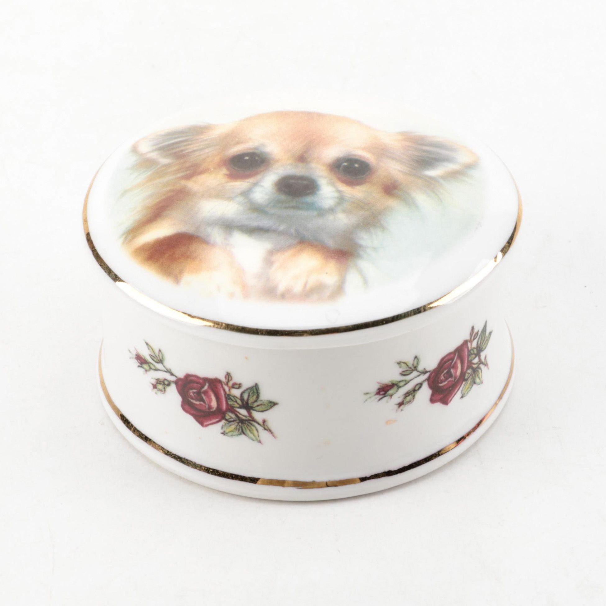 Rabart English Bone China Trinket Box