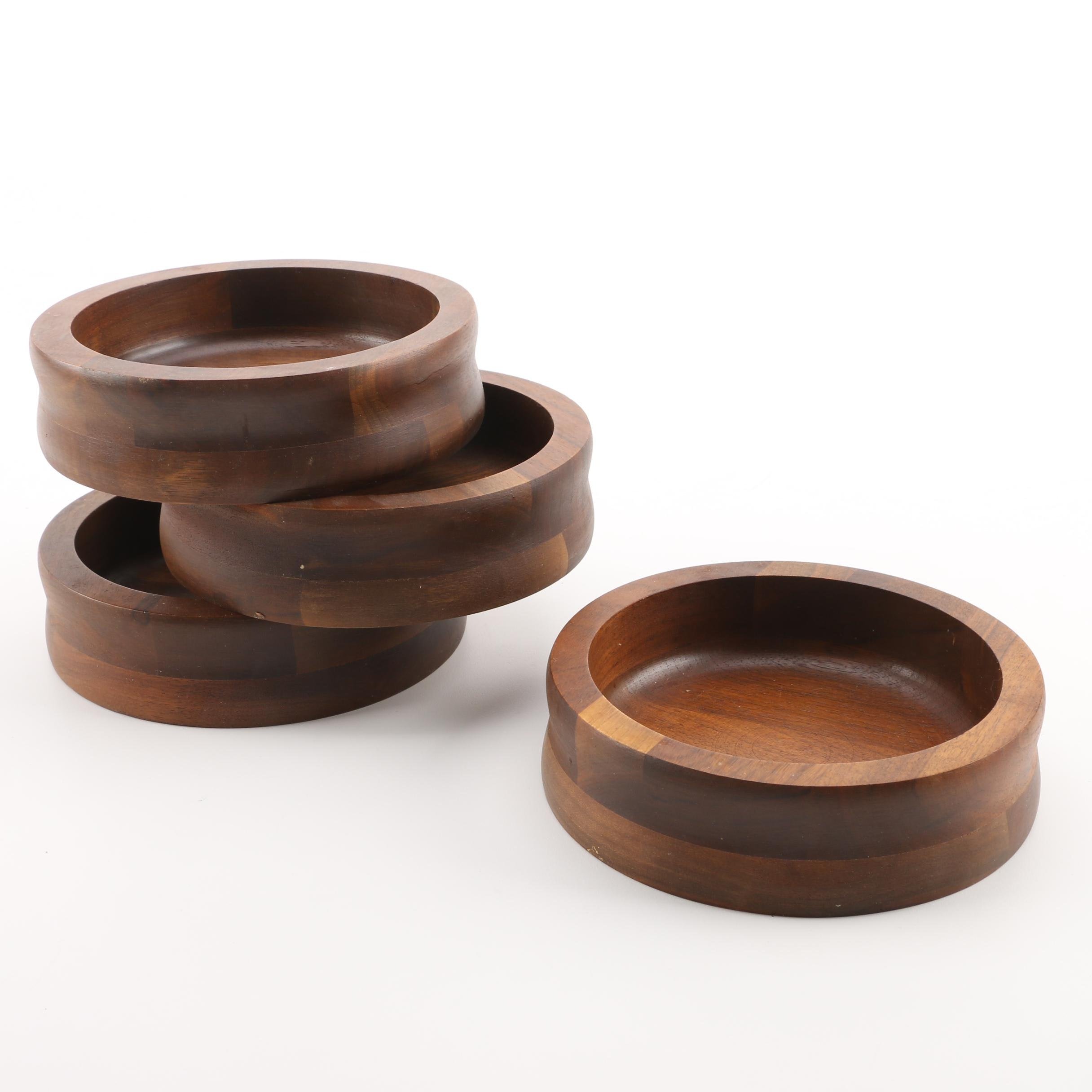 Four Wood Bowls