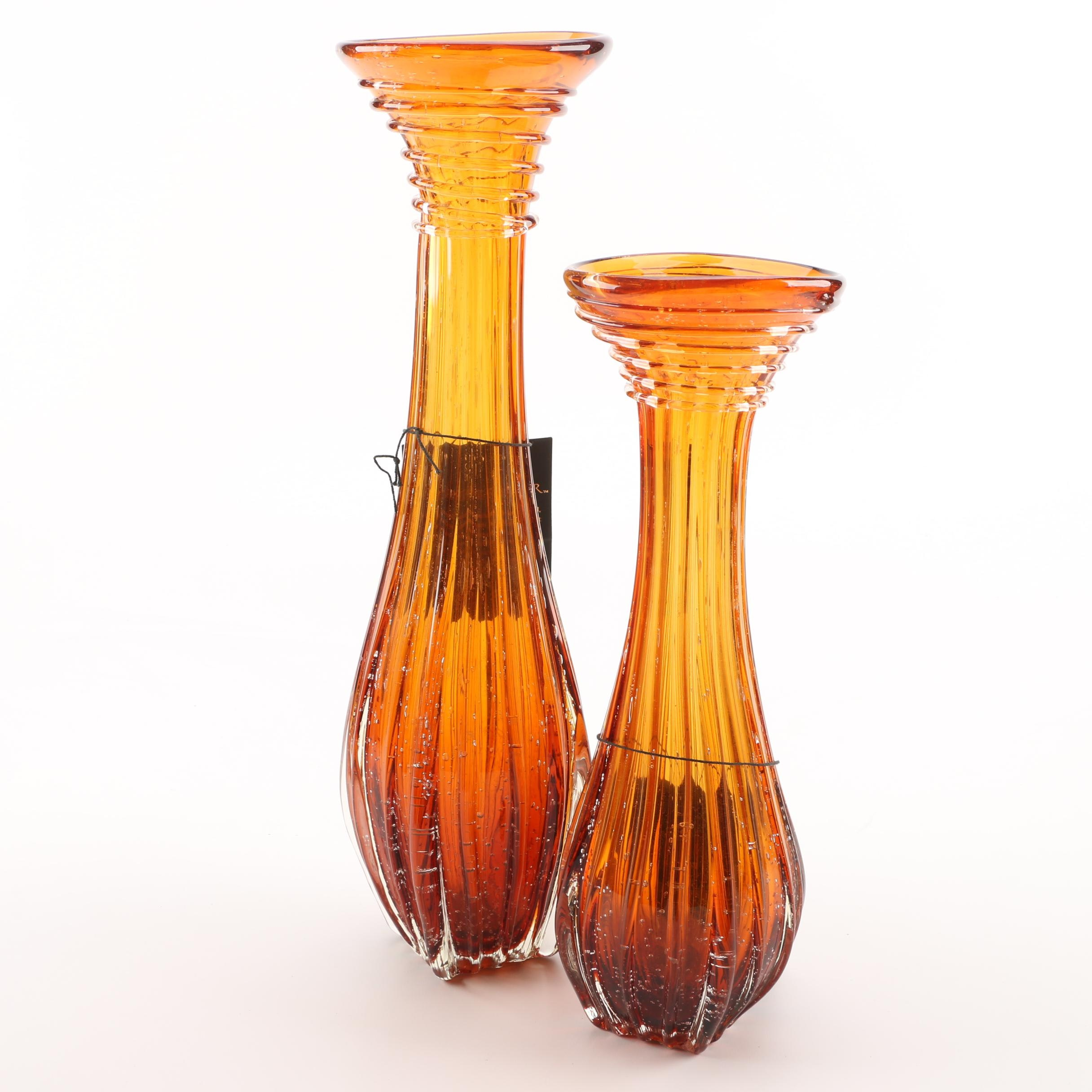 """Trump Home """"Westchester"""" Glass Vases"""