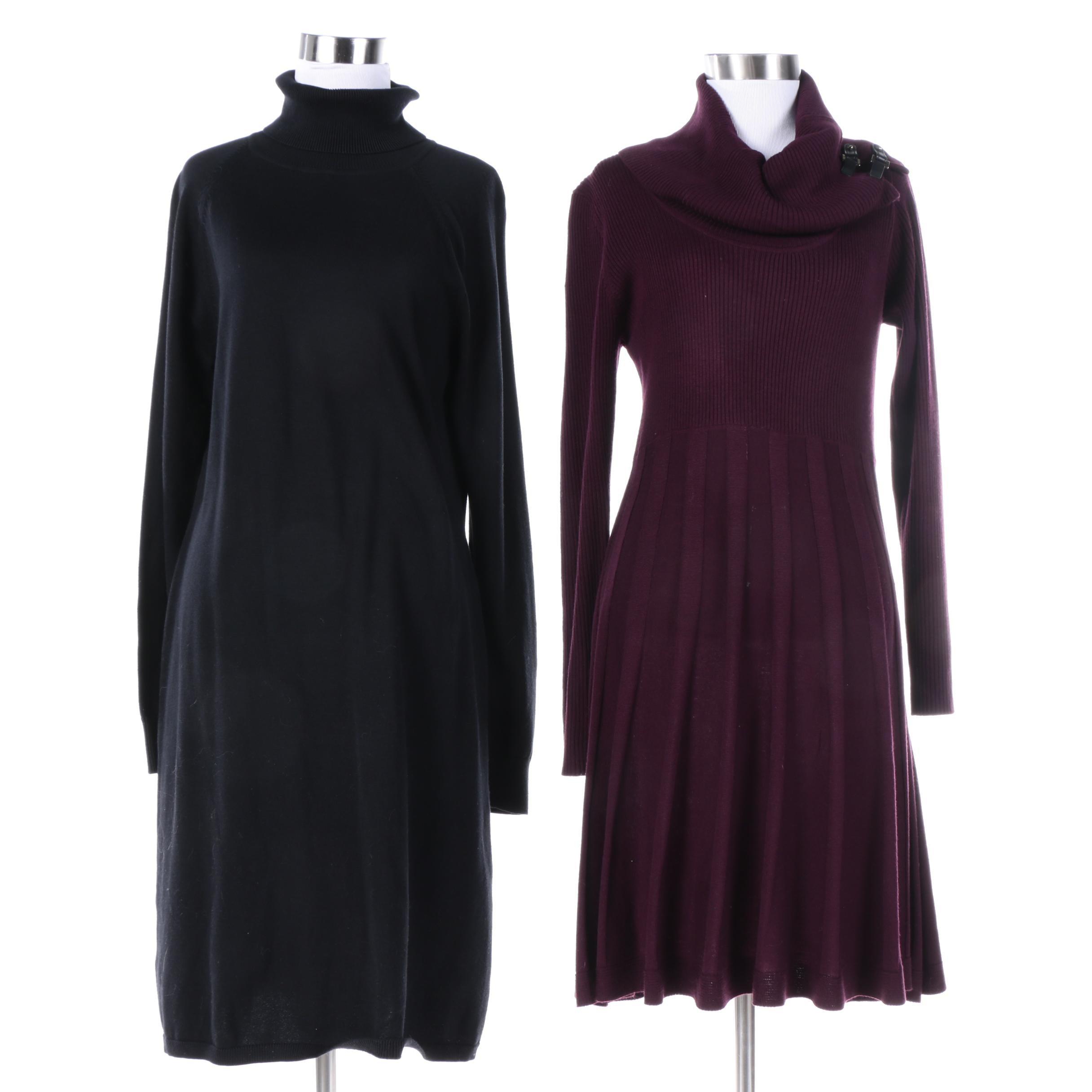Chaps and Dana Buchman Sweater Dresses