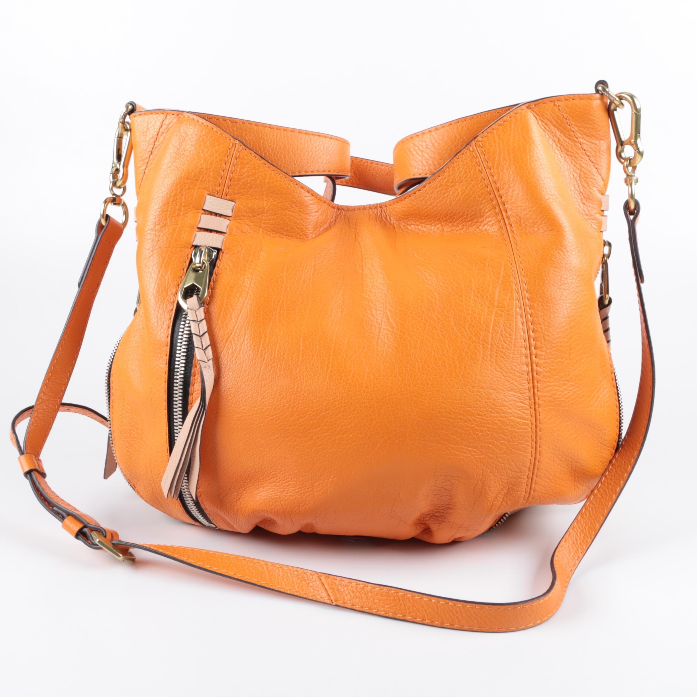 Oryany Orange Leather Handbag