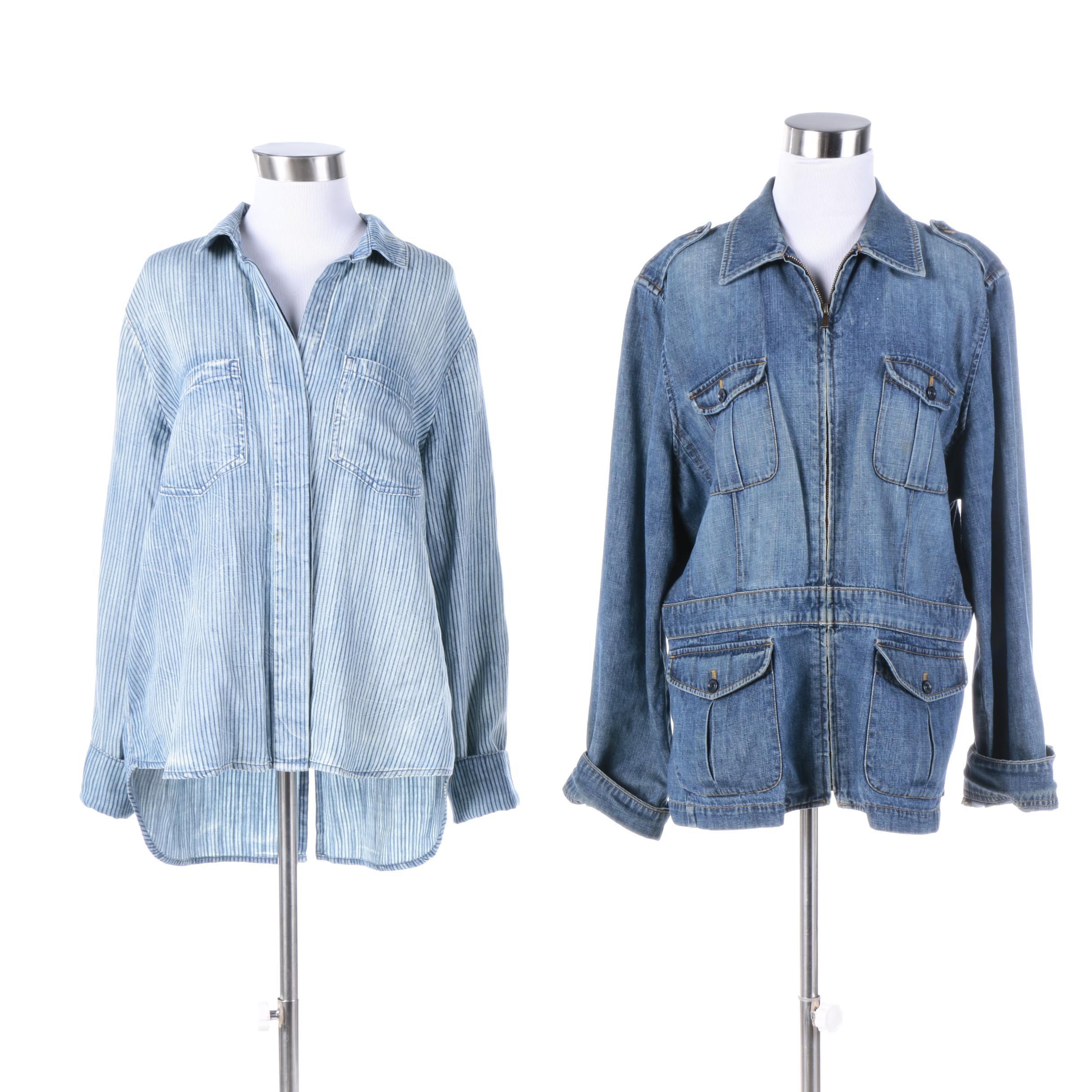 Women's Tencel Shirt and LAUREN Ralph Lauren Bali Denim Jacket