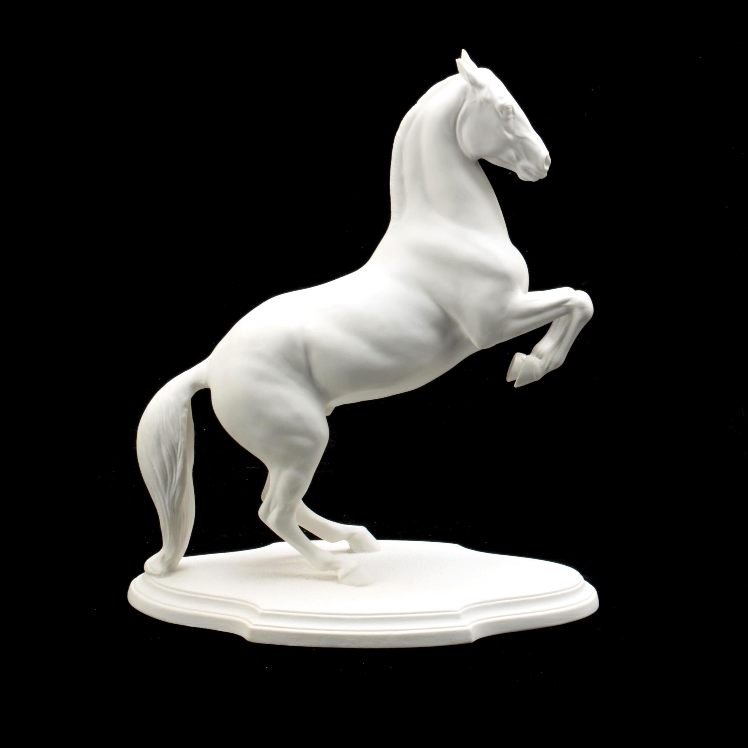 Porcelain Bisque Pamela Du Boulay Lipizzaner Horse Figurine