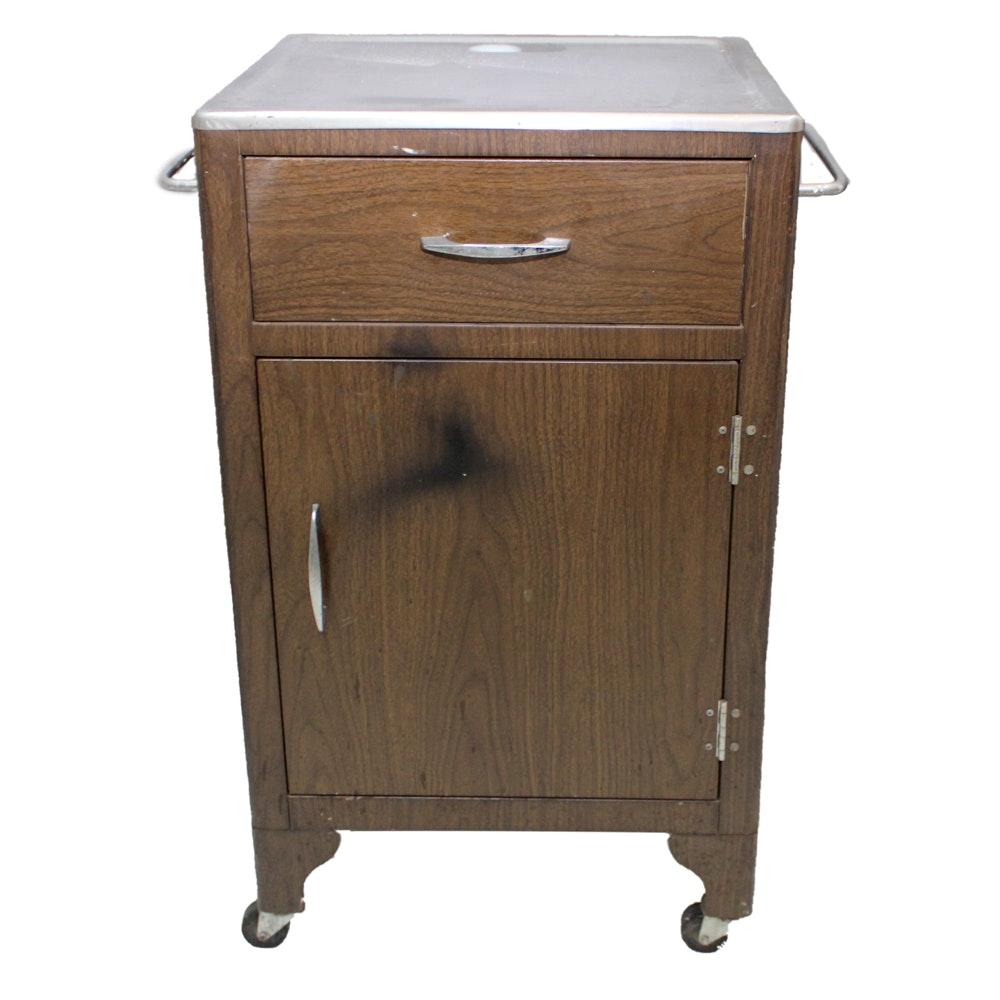 Vintage Rolling Kitchen Cabinet