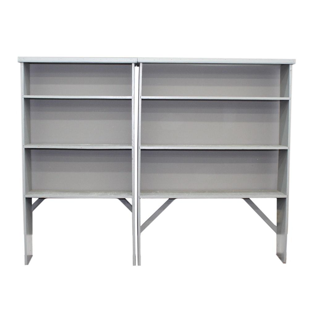 Gray Wooden Open Shelving Units