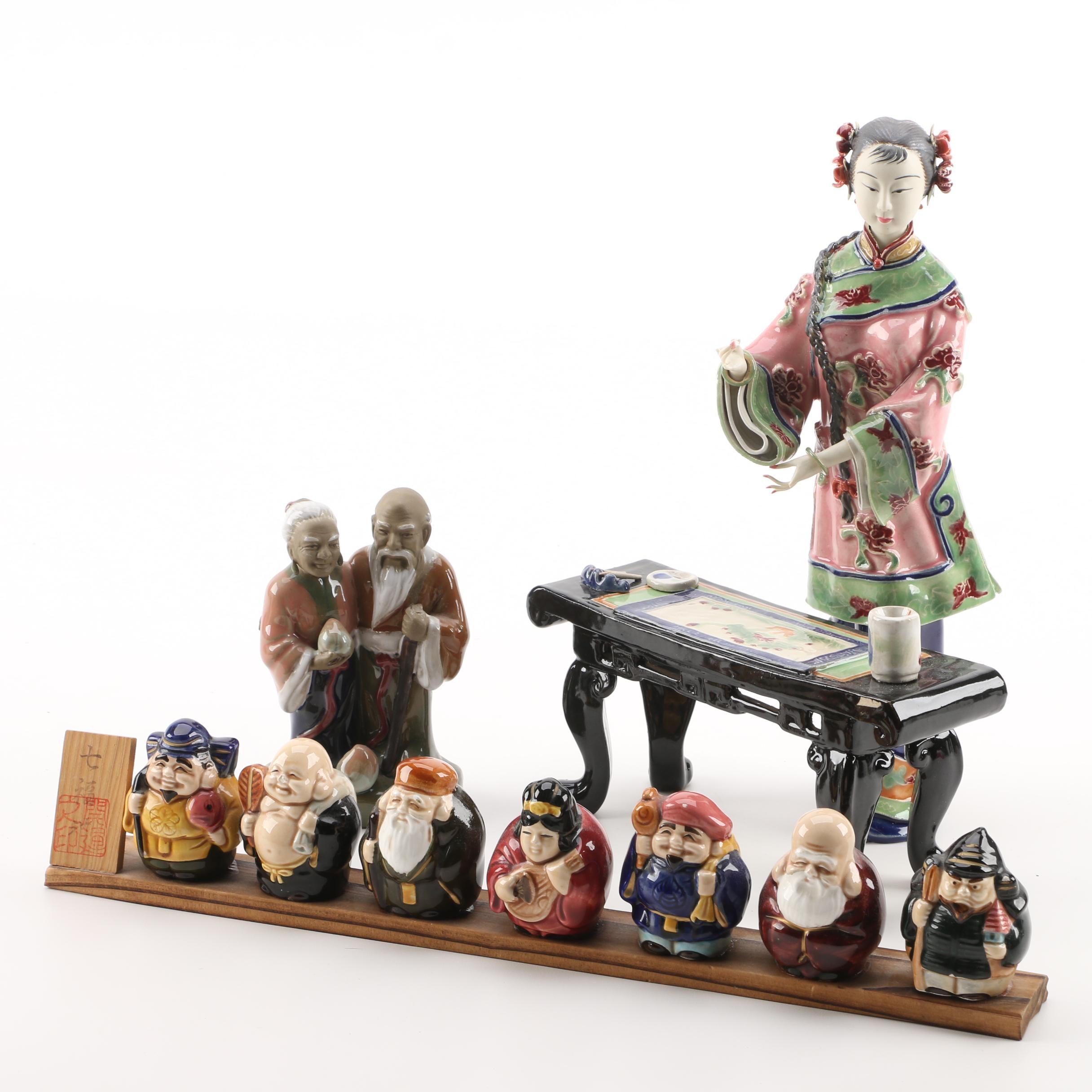 Chinese and Japanese Ceramic Figurines