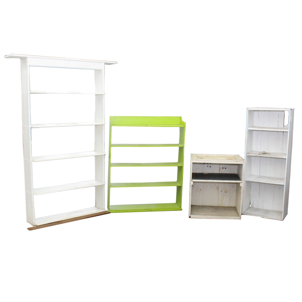Painted Wood Shelves