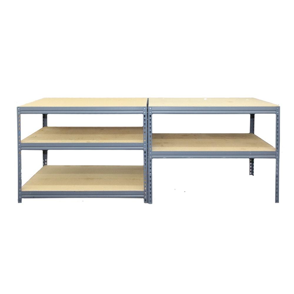 Gray Metal Work Shelves