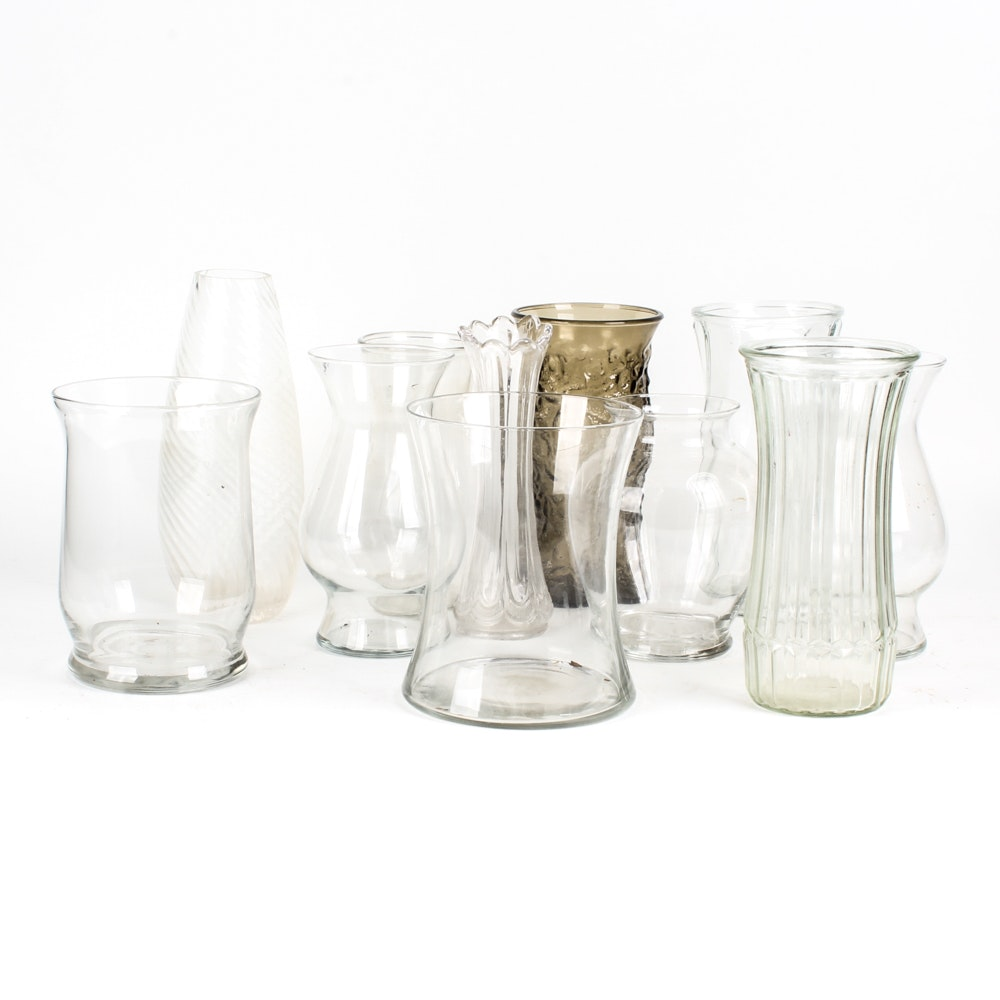 Grouping of Glass Vases