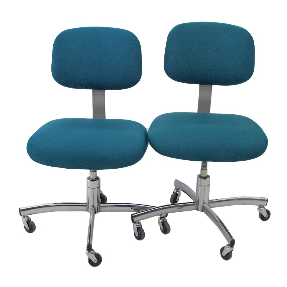Teal Fabric Upholstered Office Chairs
