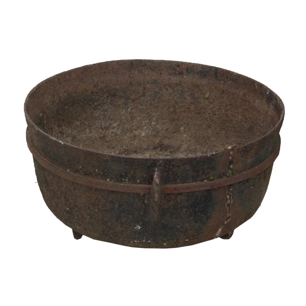 Cast Iron Footed Cauldron