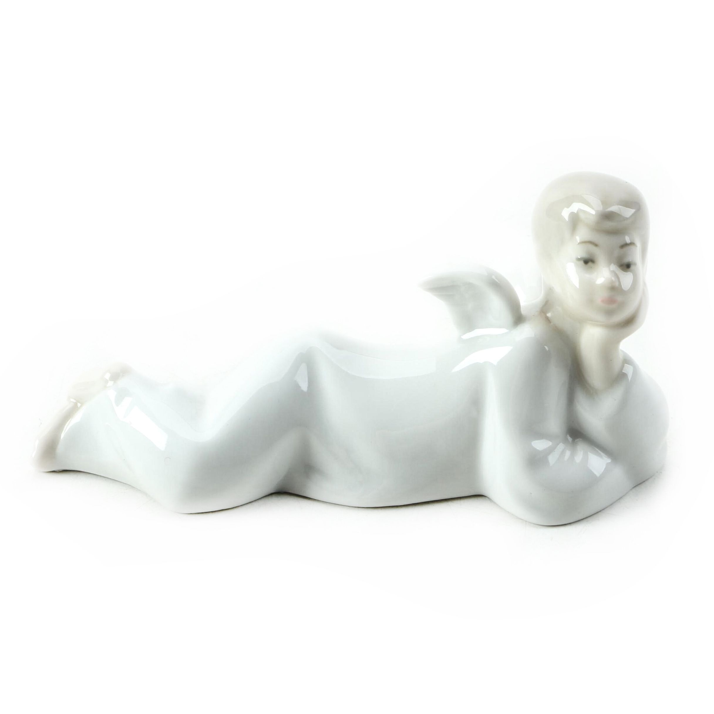 """Vintage NAO for Lladró """"Angel Laying Down"""" Porcelain Figurine"""