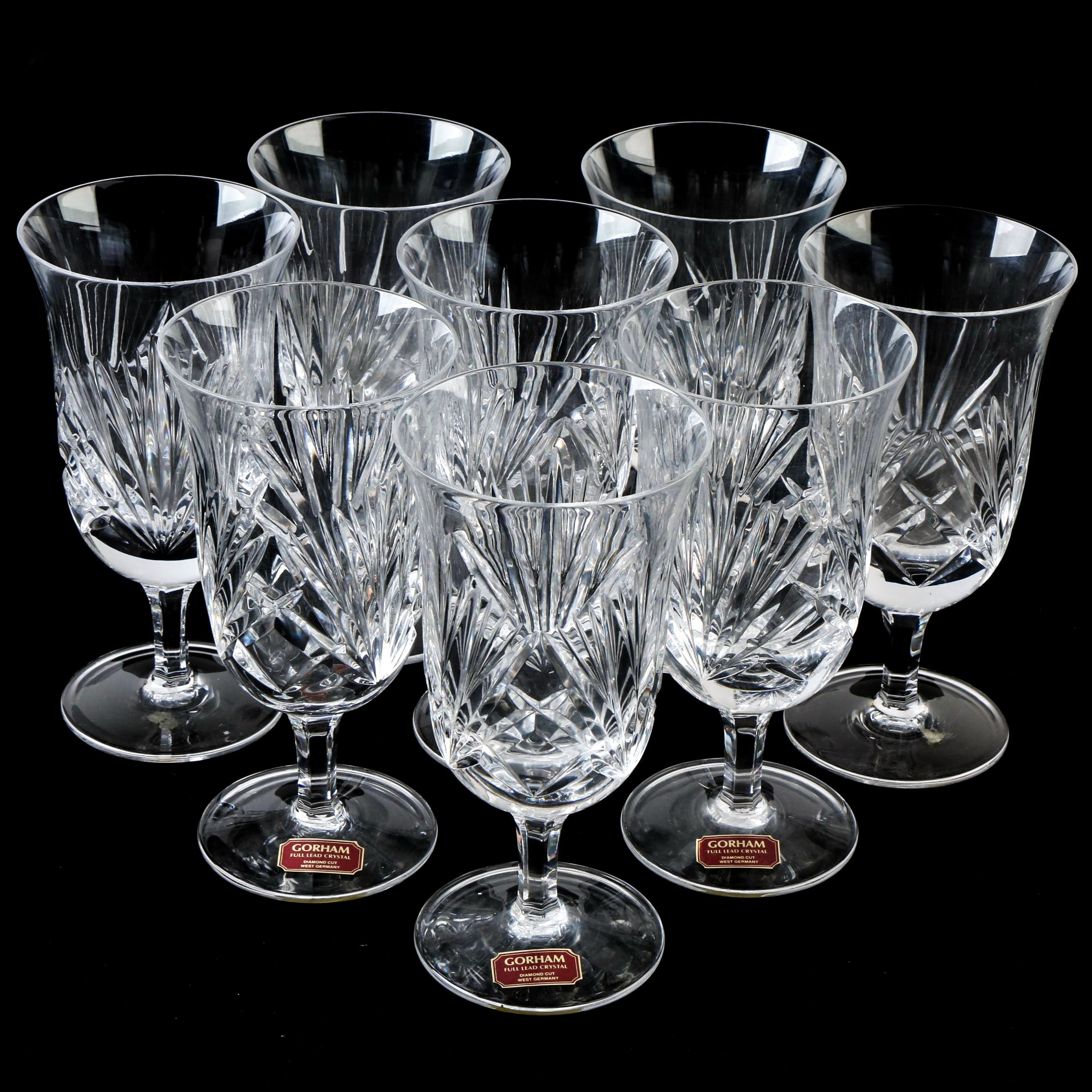 "Gorham ""Cherrywood"" Crystal Iced Tea Glasses"