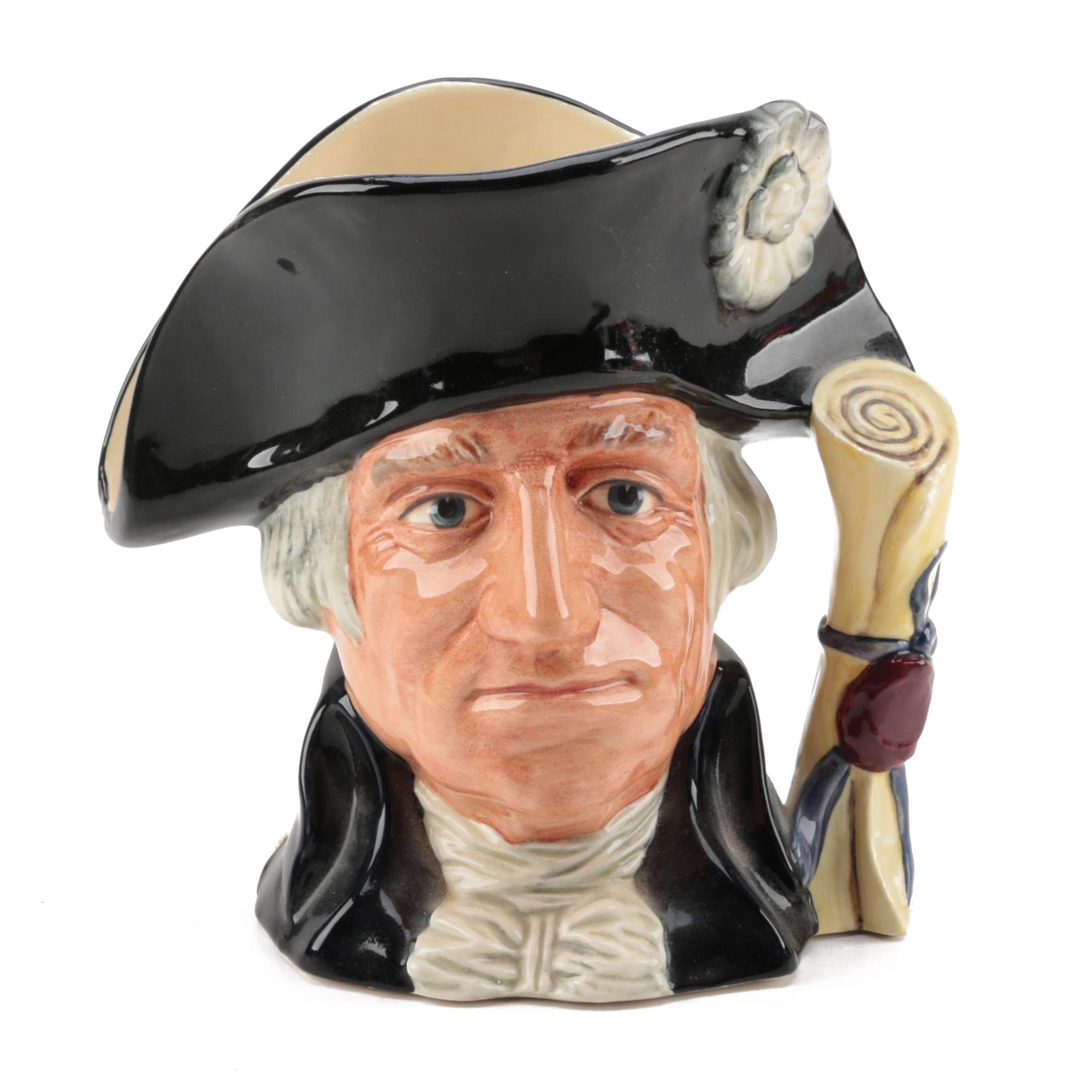 """Royal Doulton """"George Washington"""" Character Jug"""