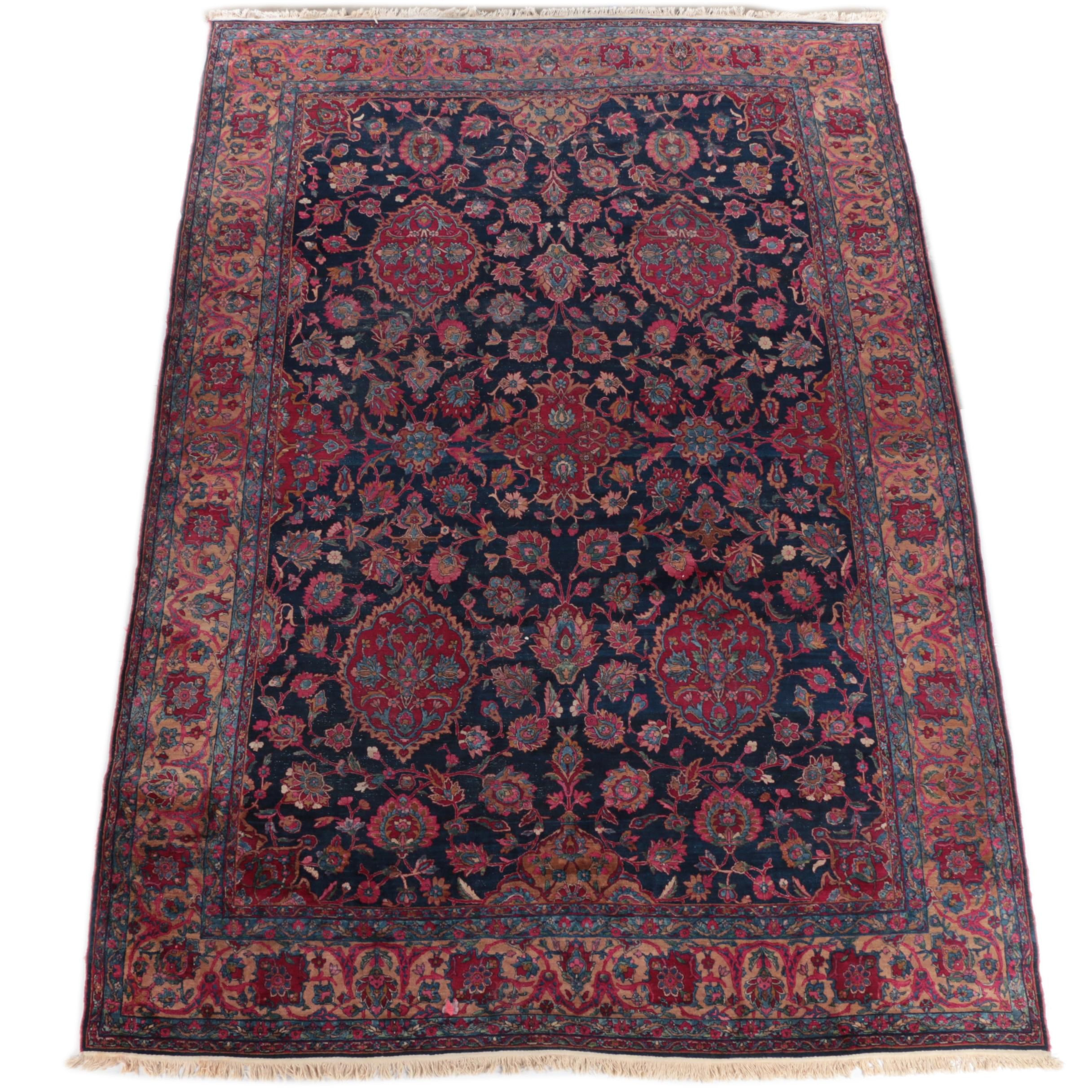 Large Antique Hand-Knotted Persian Area Rug