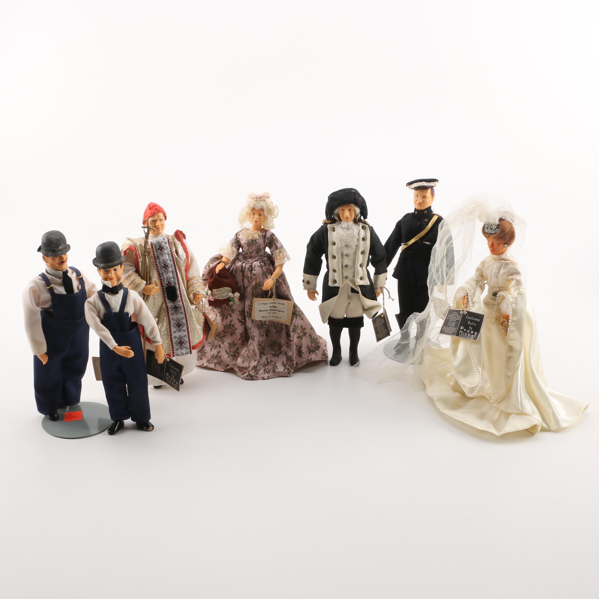 "Vintage Peggy Nisbet Historical Costume Dolls Featuring ""Laurel & Hardy"""