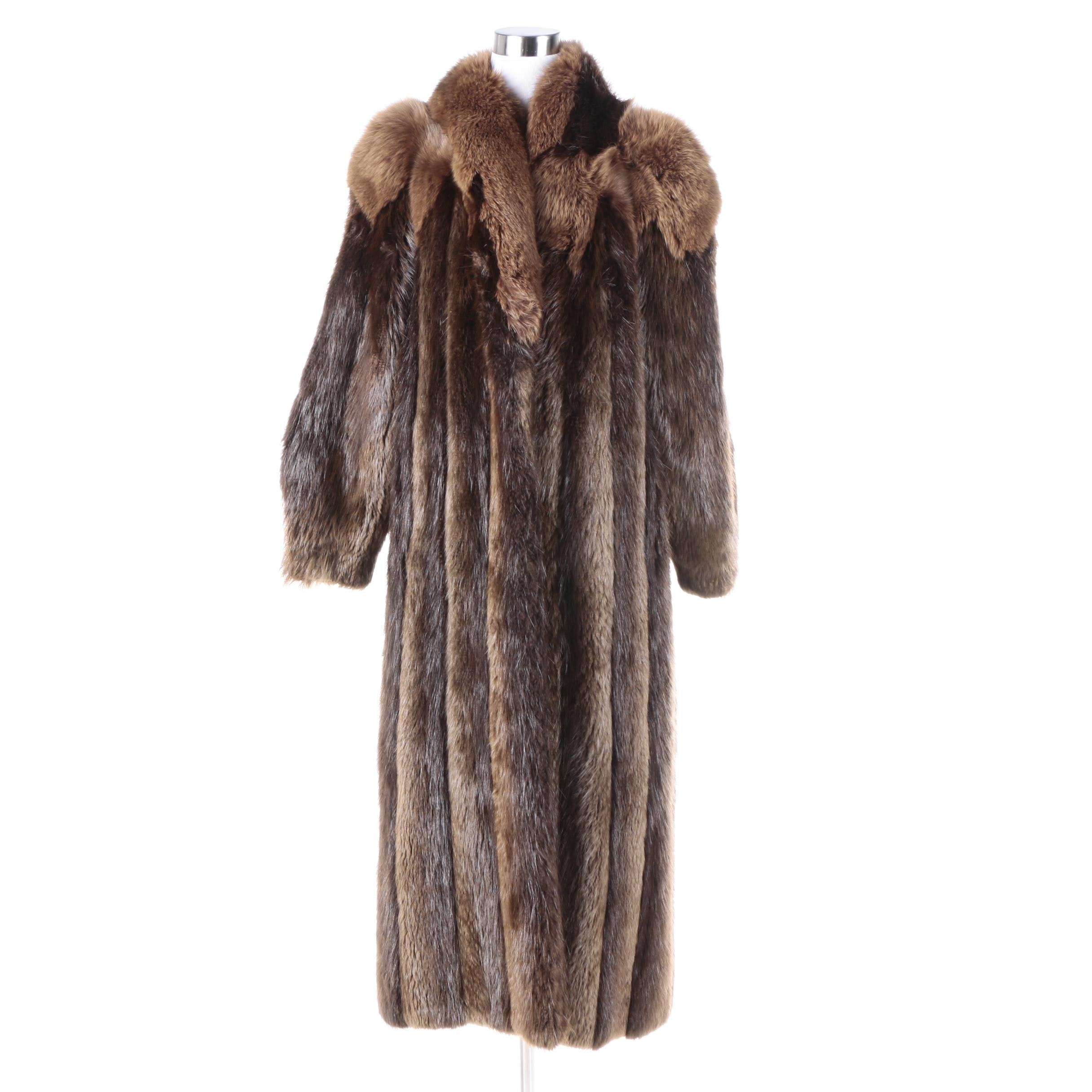 Women's Vintage Kaufmann's Fox and Beaver Fur Coat