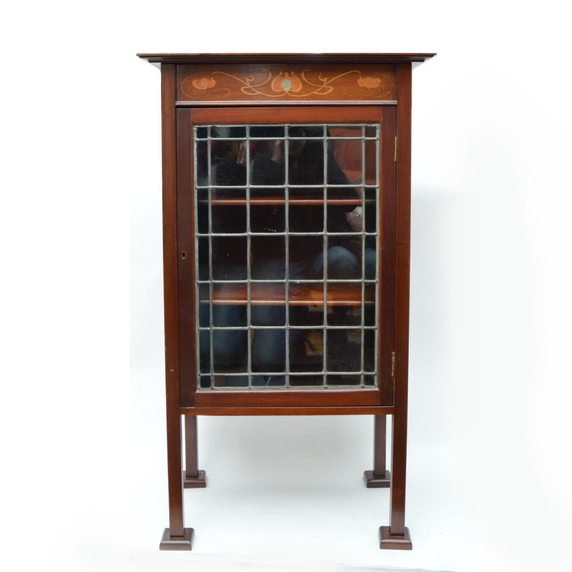 Art Nouveau Style Mahogany Cabinet