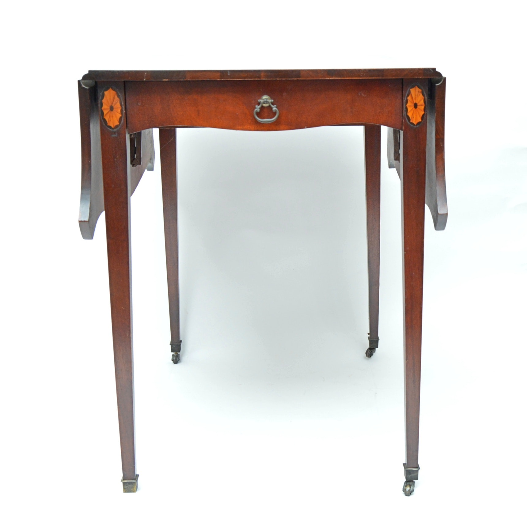 Neoclassic Style Mahogany Dropleaf Side Table
