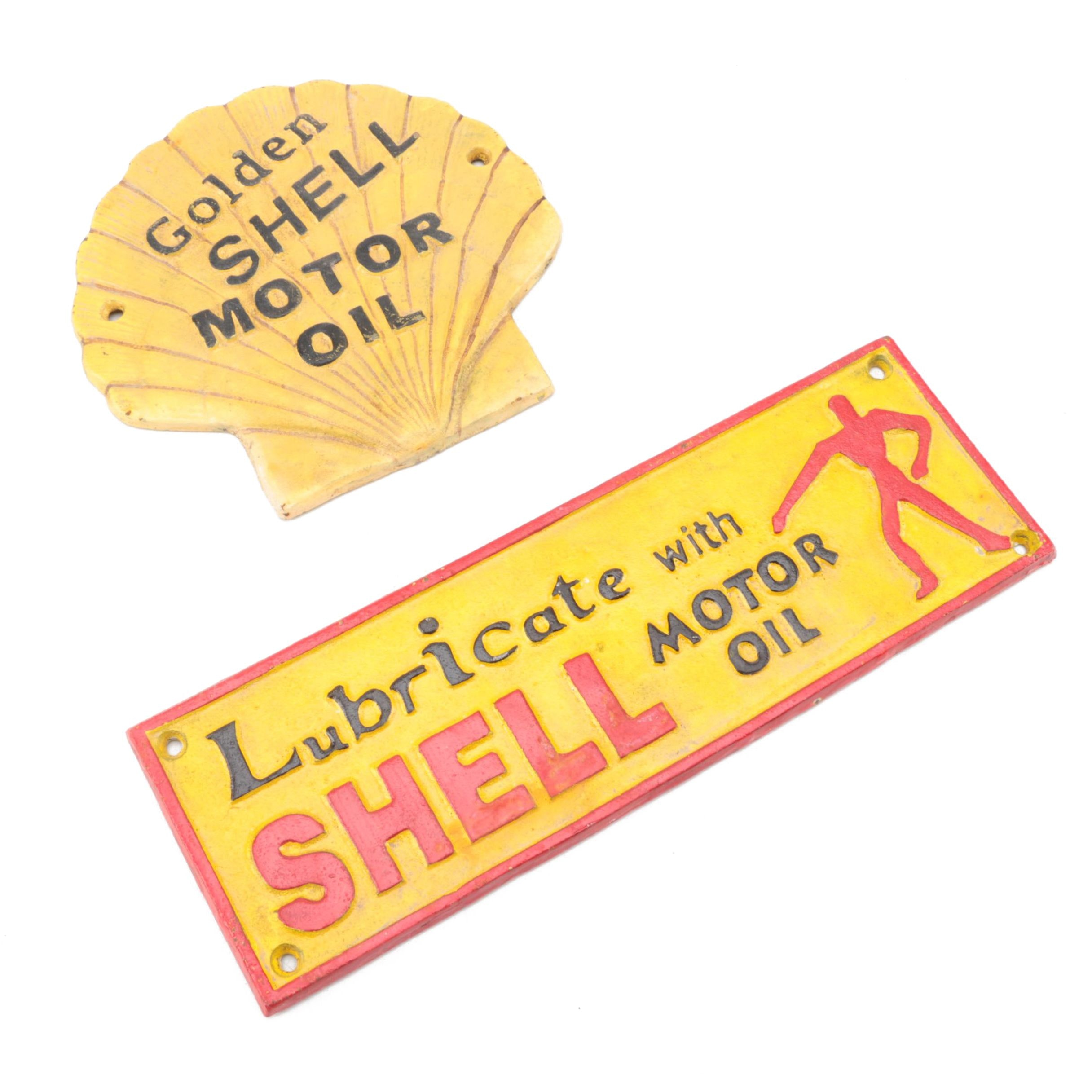 Shell Motor Oil Advertisement Signs