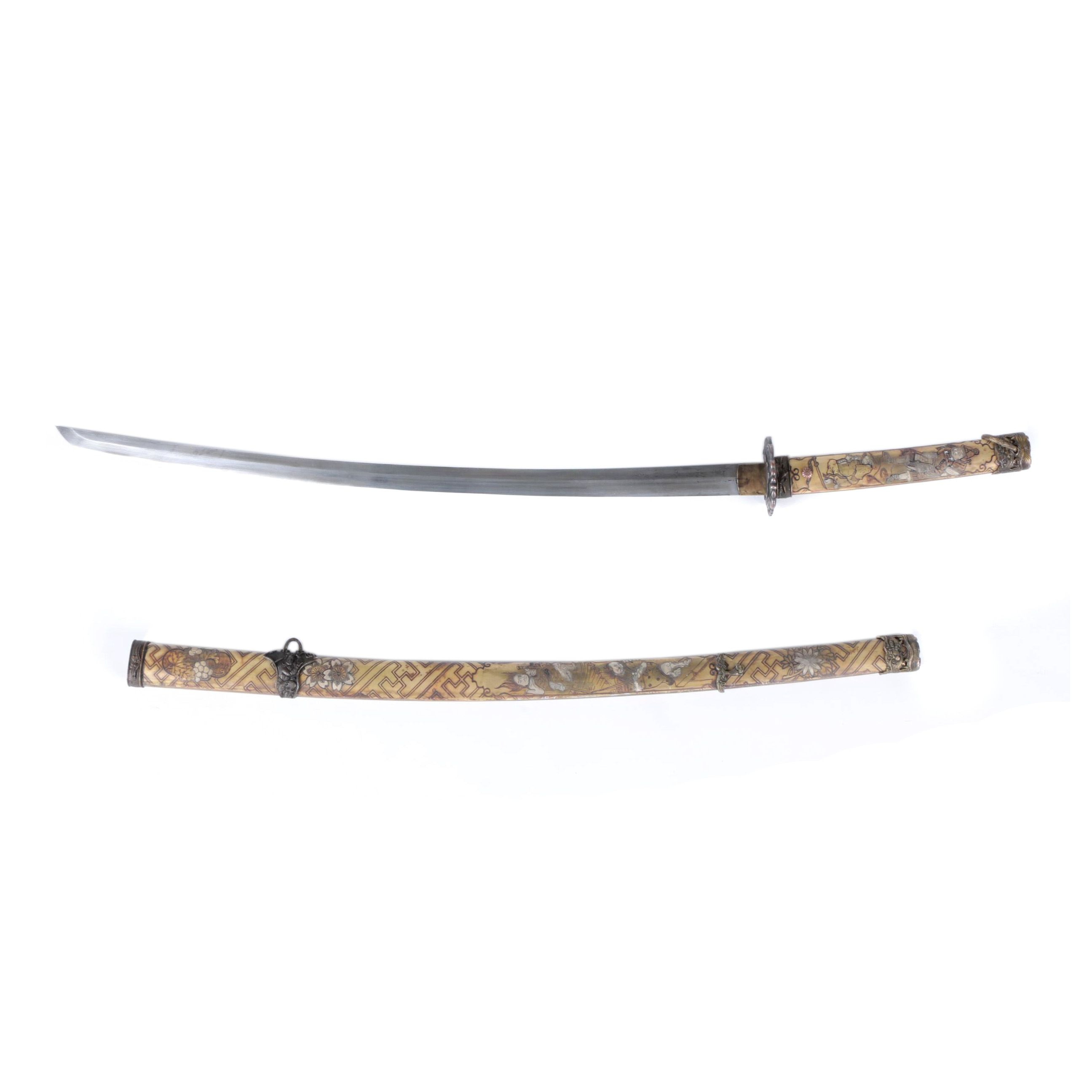 Contemporary Japanese Style Katana with Scabbard