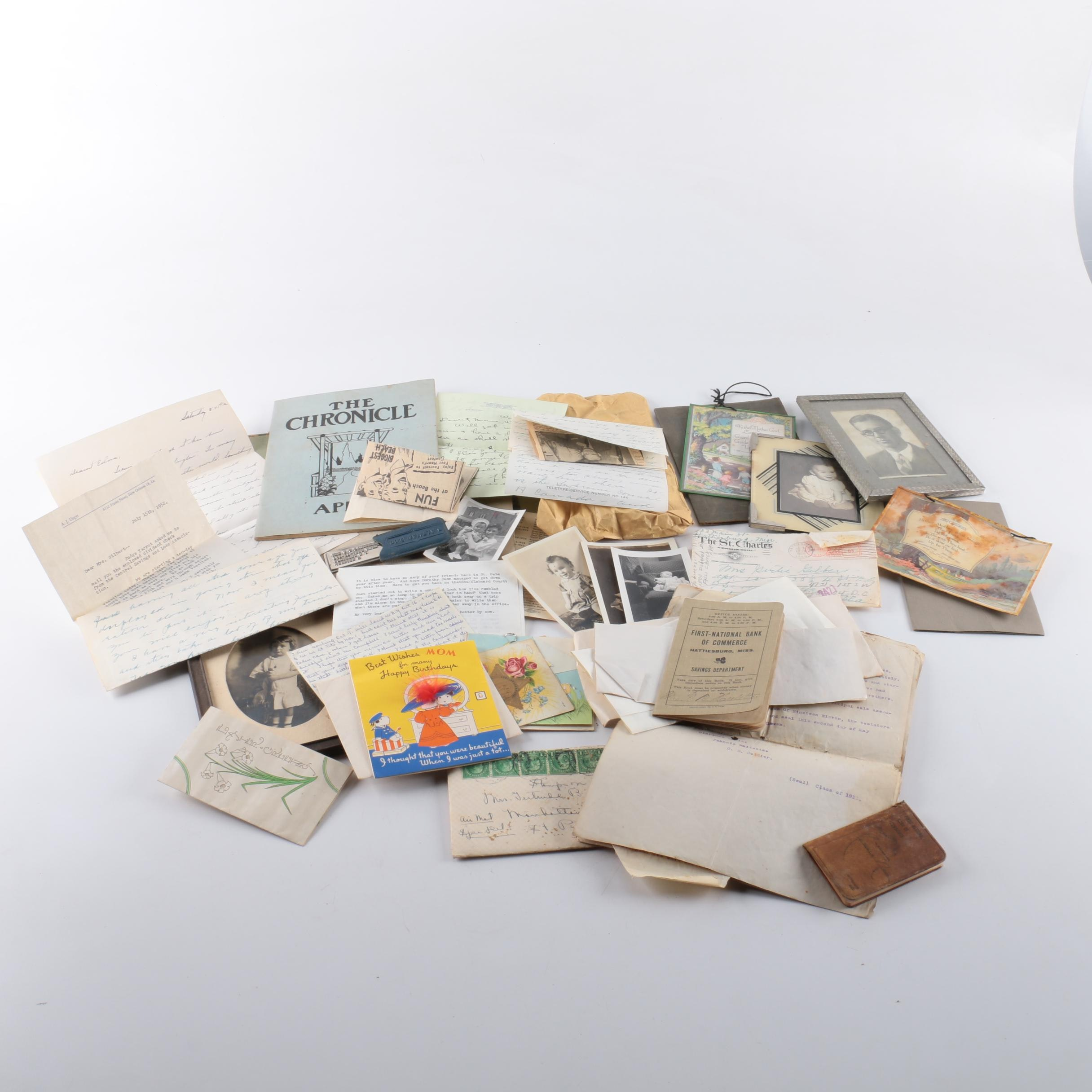 Vintage Photos, Letters and Notes