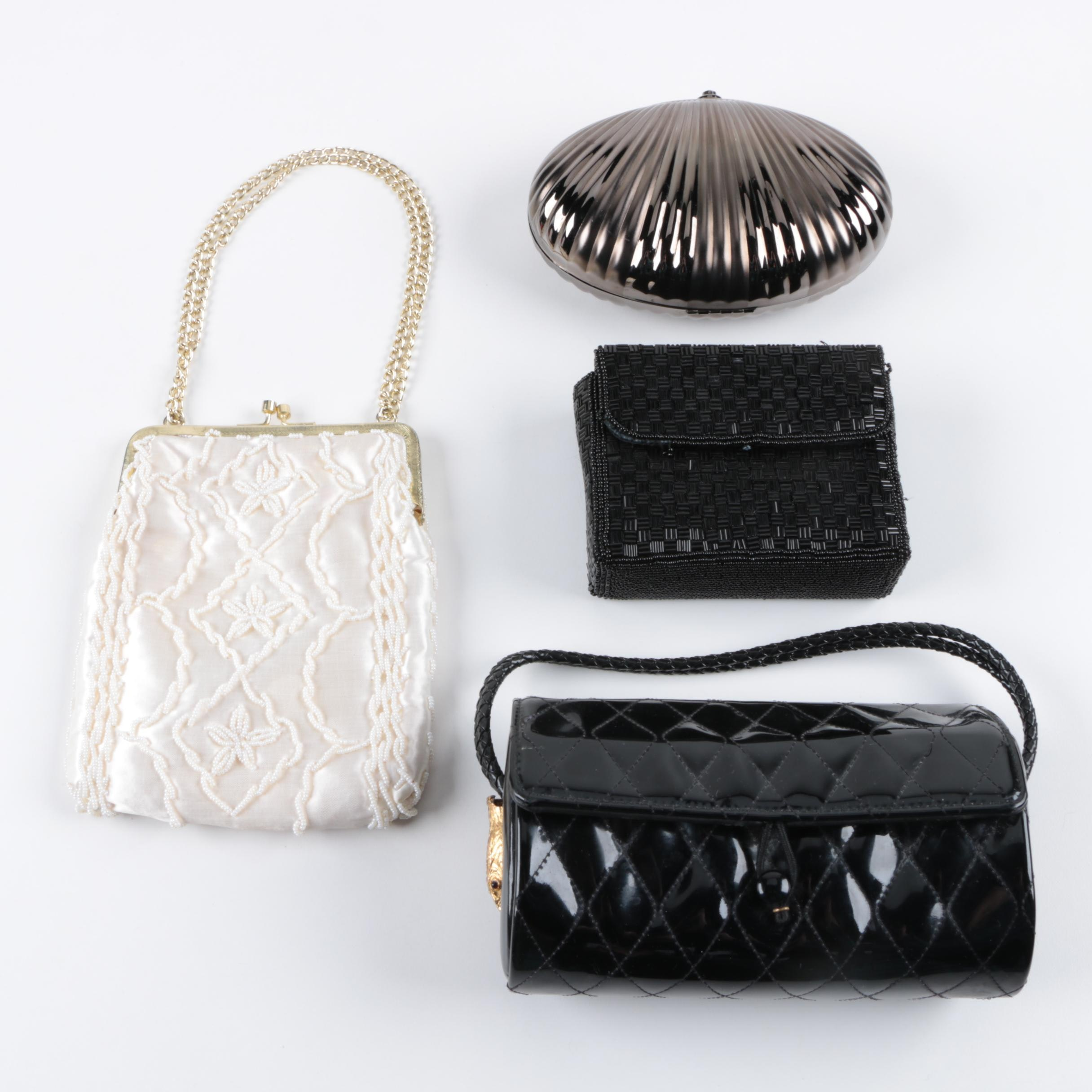 Evening Bags Including Beaded, Metal and Quilted Styles