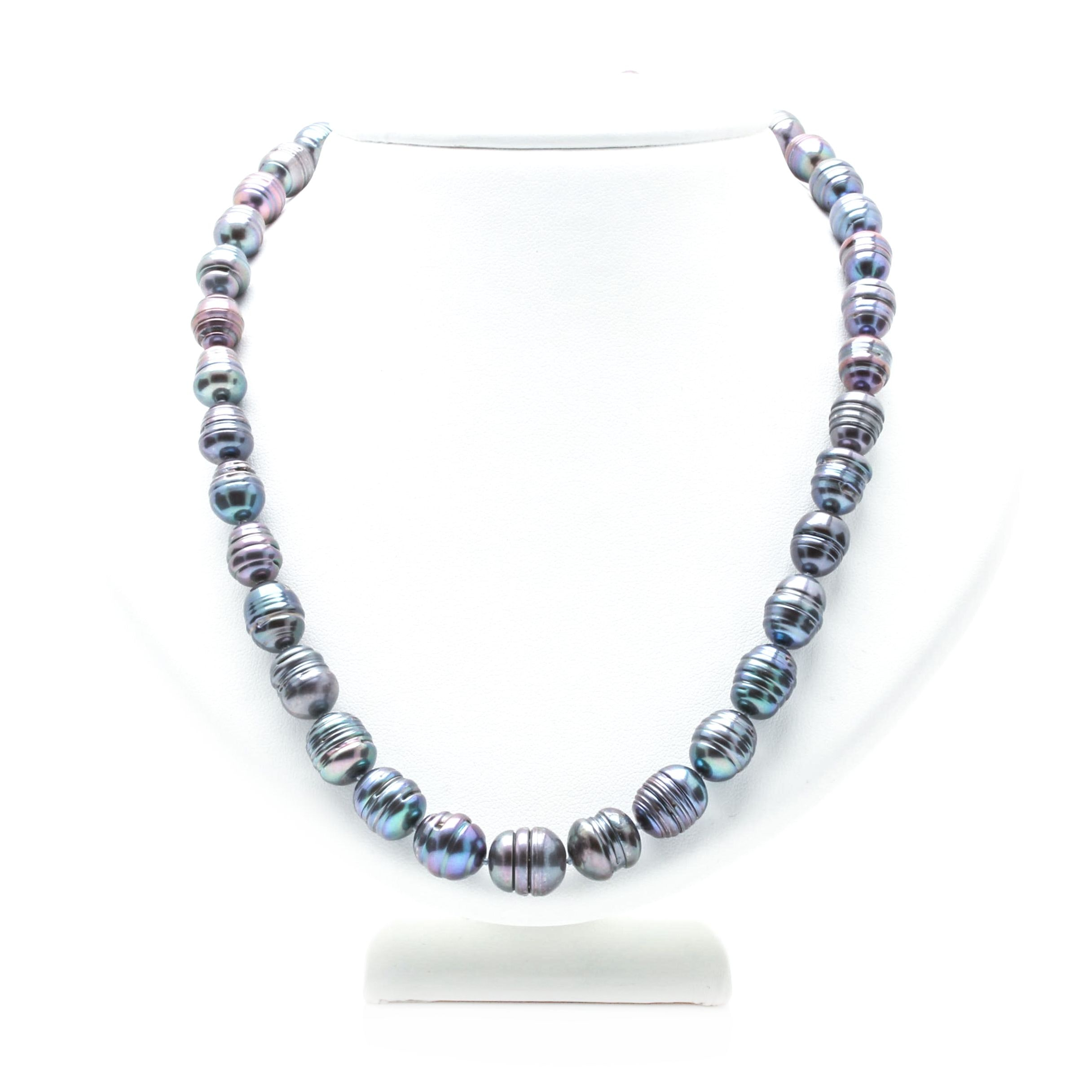 14K White Gold Dyed Cultured Pearl Necklace