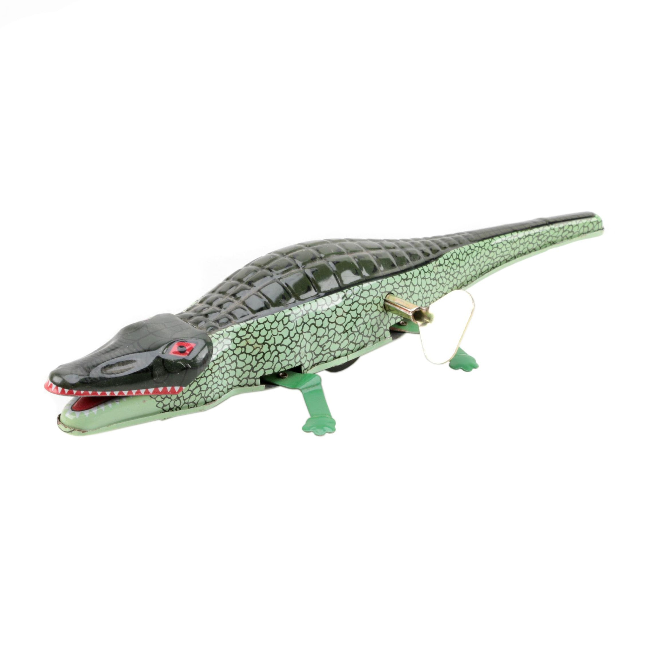 Tin Litho Wind-Up Inertia Crocodile
