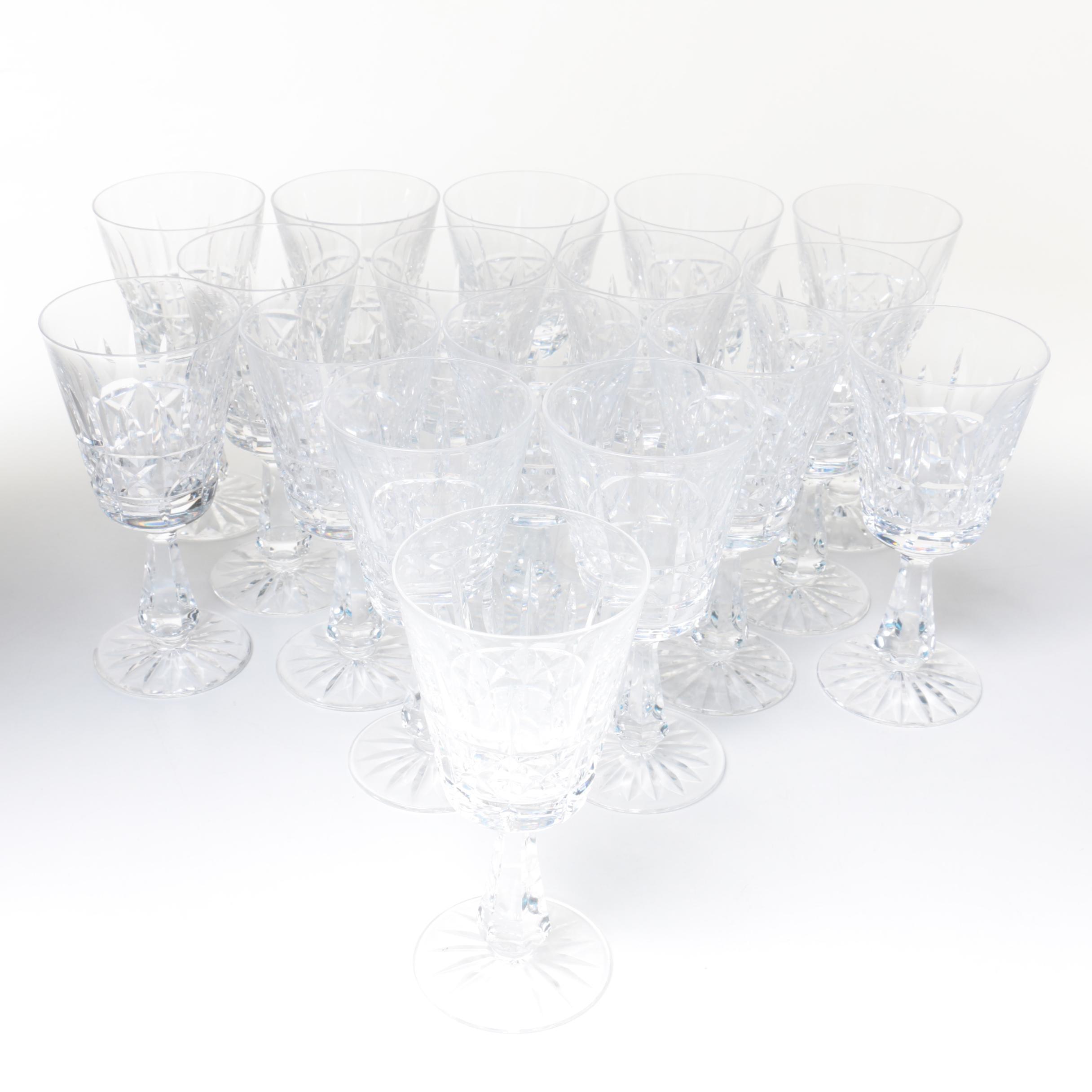 """Waterford Crystal """"Kylemore"""" Claret Wine Glasses"""