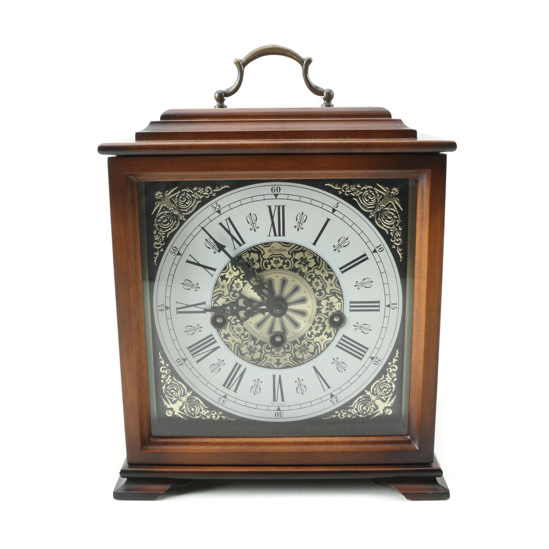 Linden Chiming Wood Mantel Clock