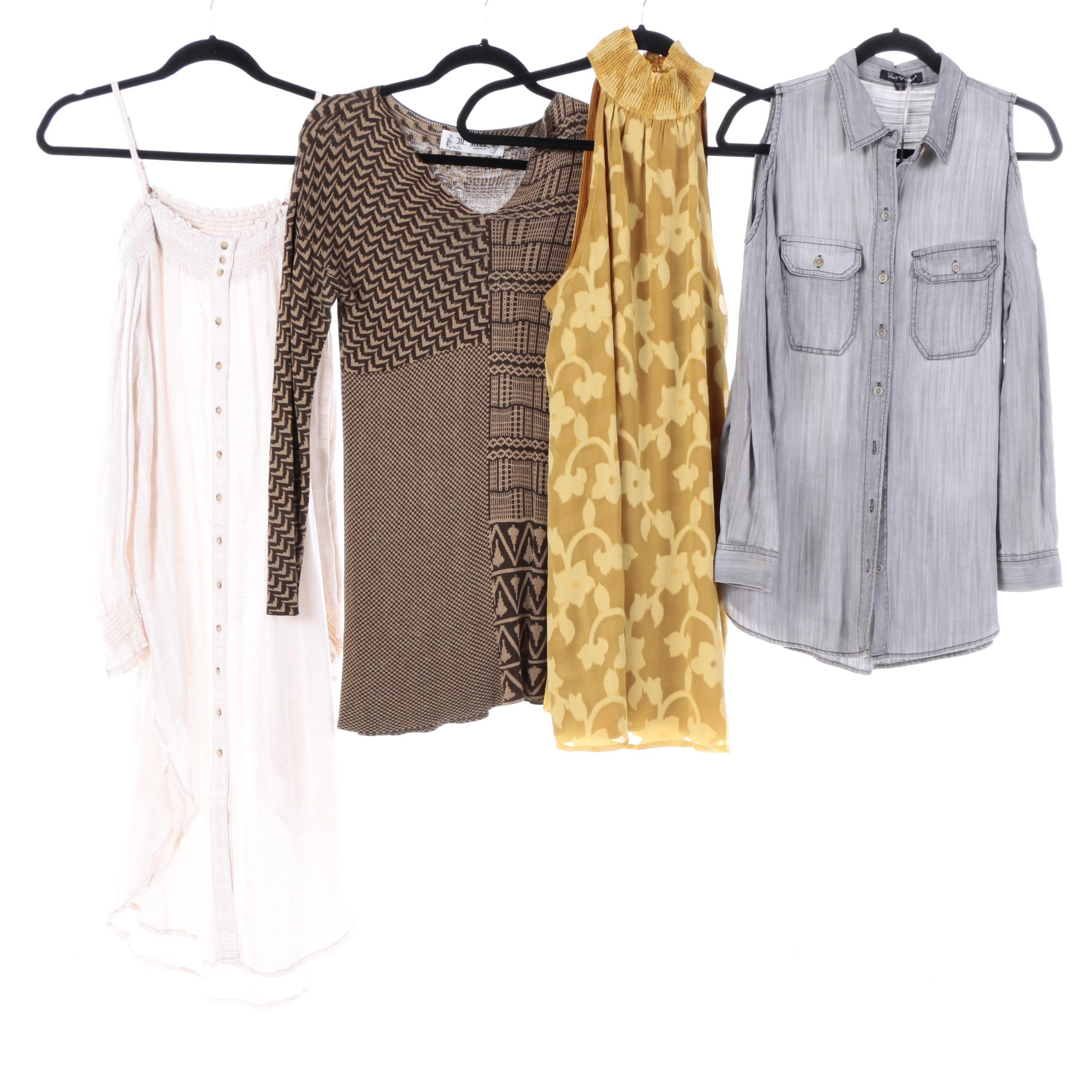 Women's Shirts and Dresses Including Free People and Velvet Heart