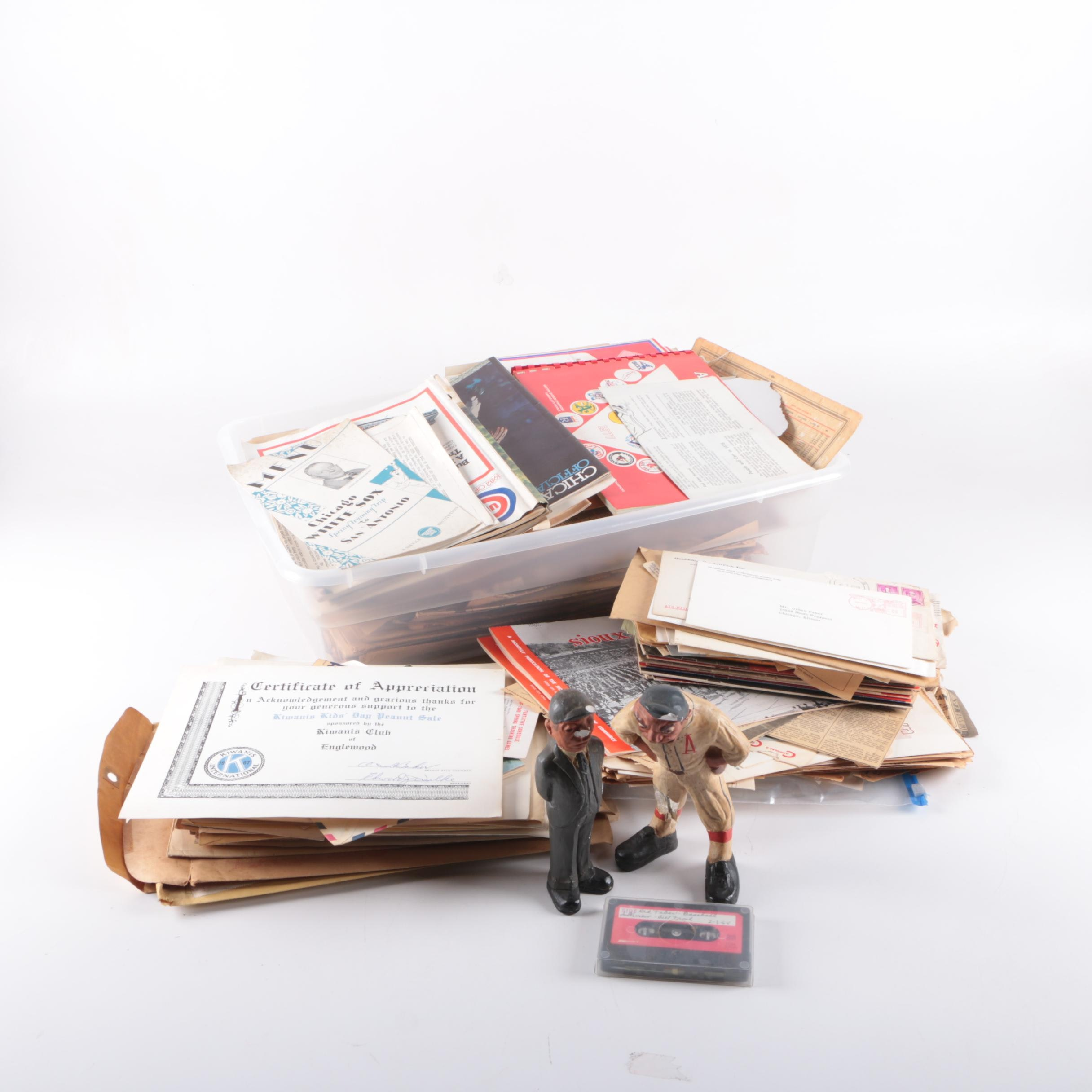 """Vintage World Series Tickets, """"Red"""" Faber Letters, Interview, Photos and More"""