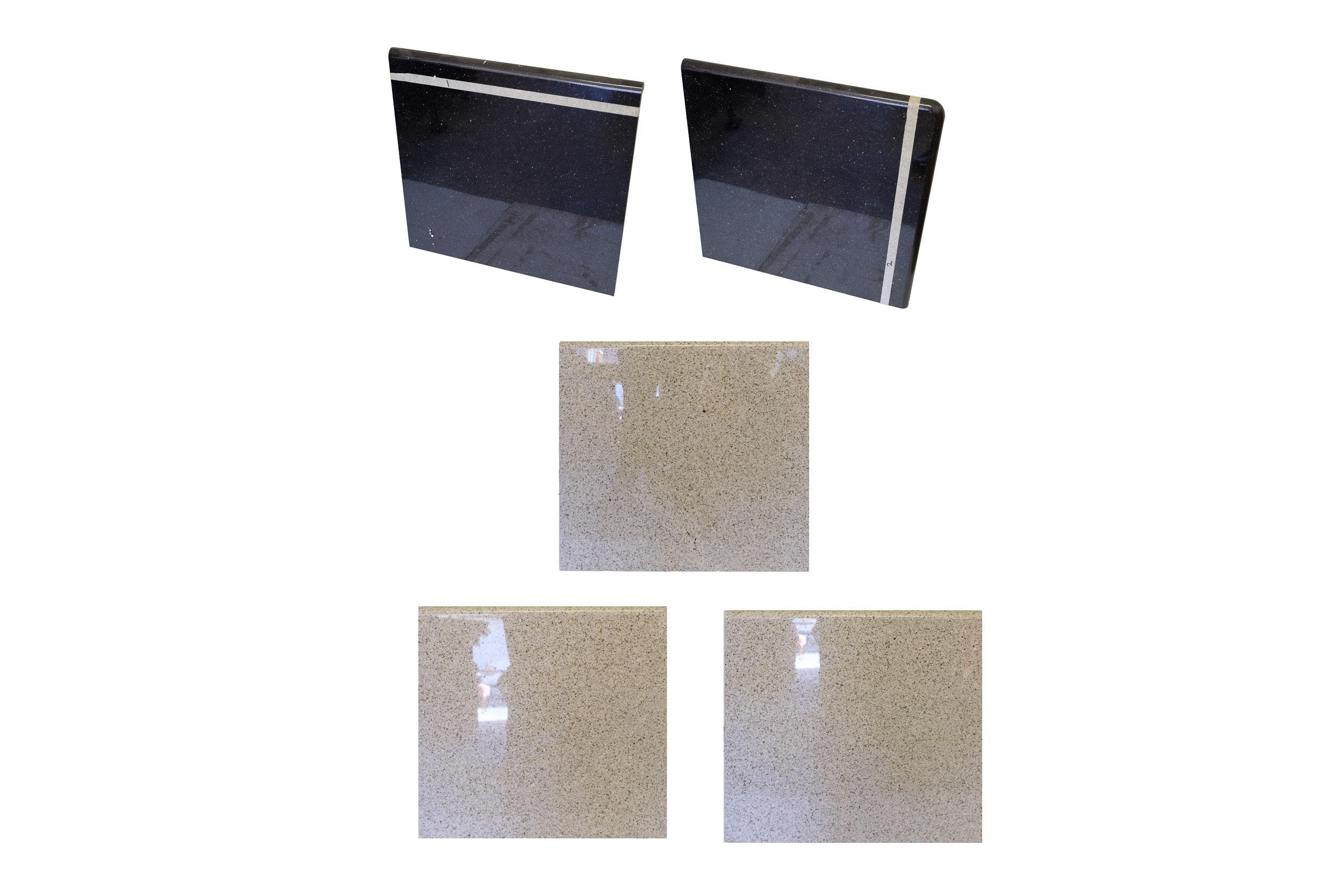 """Granite and Anorthosite """"Black Granite"""" Countertop Samples"""