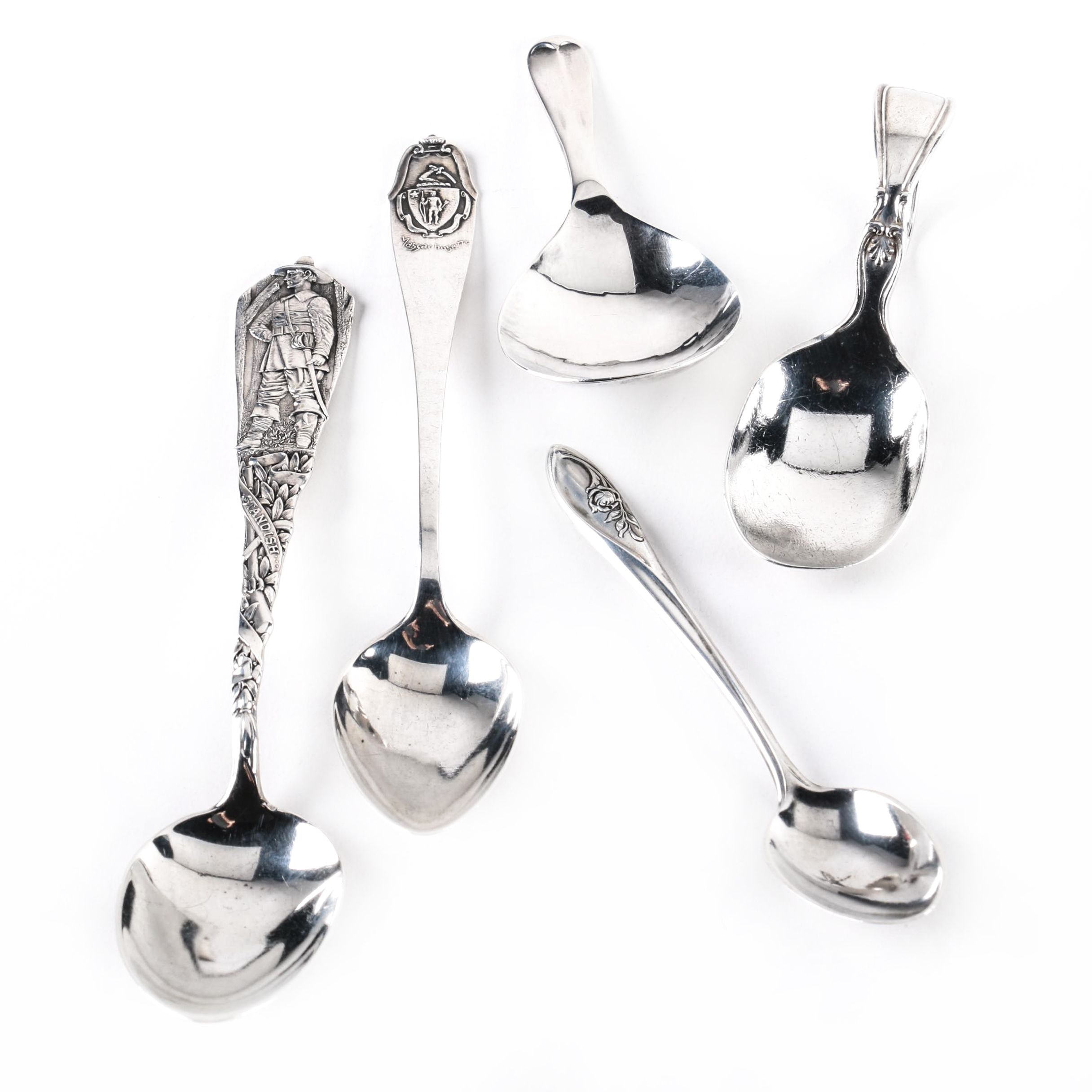 """Towle """"Sculptured Rose"""" and Other Sterling Silver Spoons"""