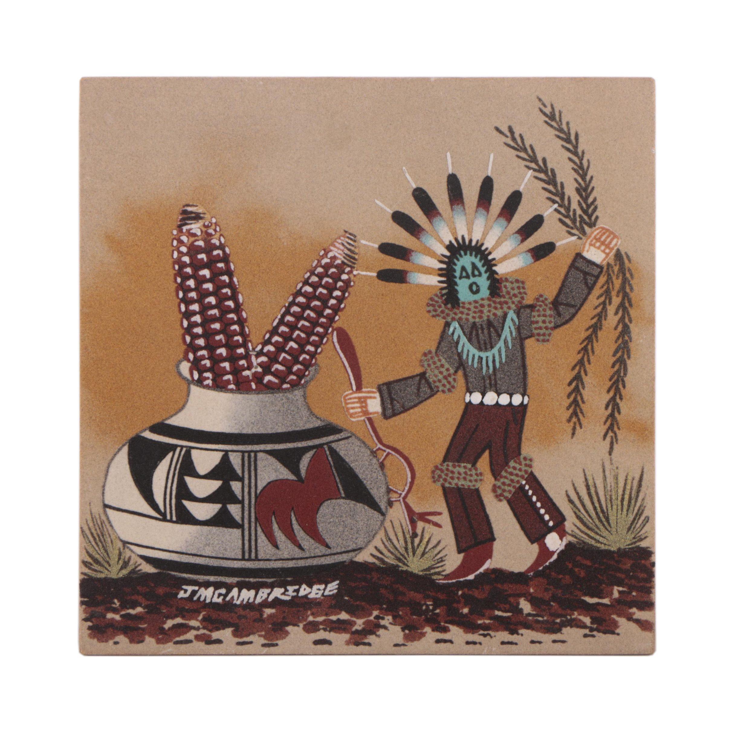 J. M. Cambridge Navajo-Style Sand Painting