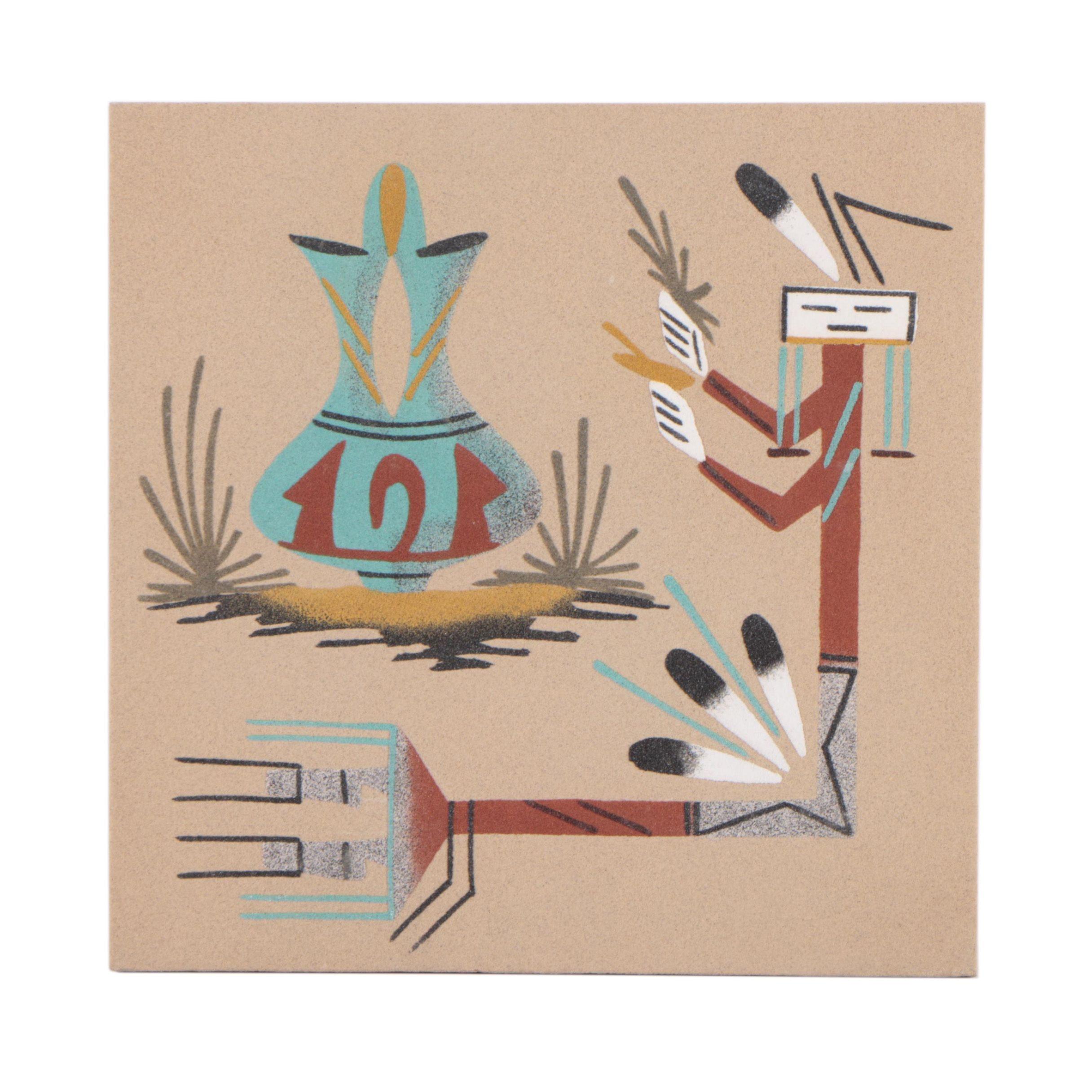 Navajo-Style Sand Painting