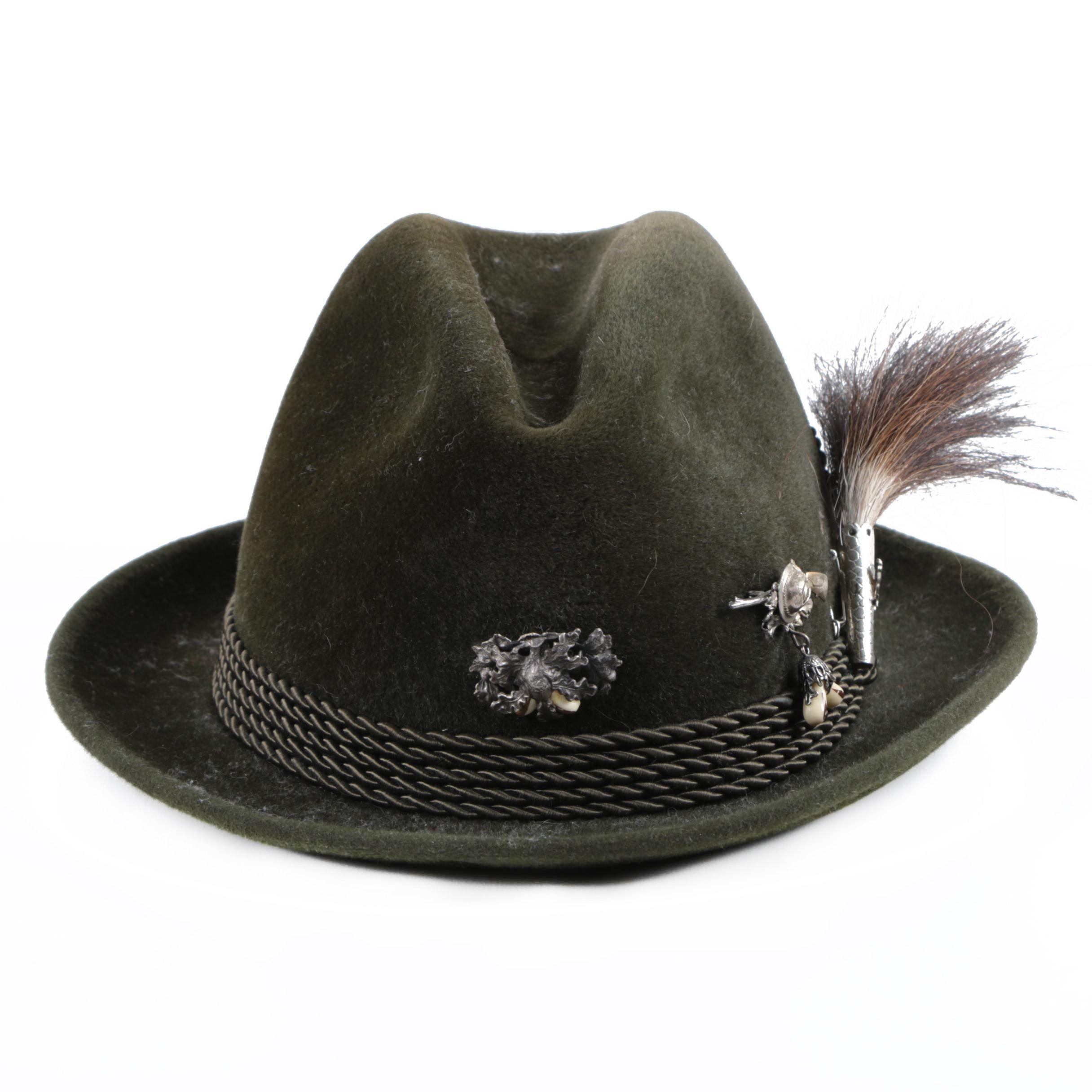 Vintage Ottmar Reich Fur Felt Fedora Hat, Made in Germany