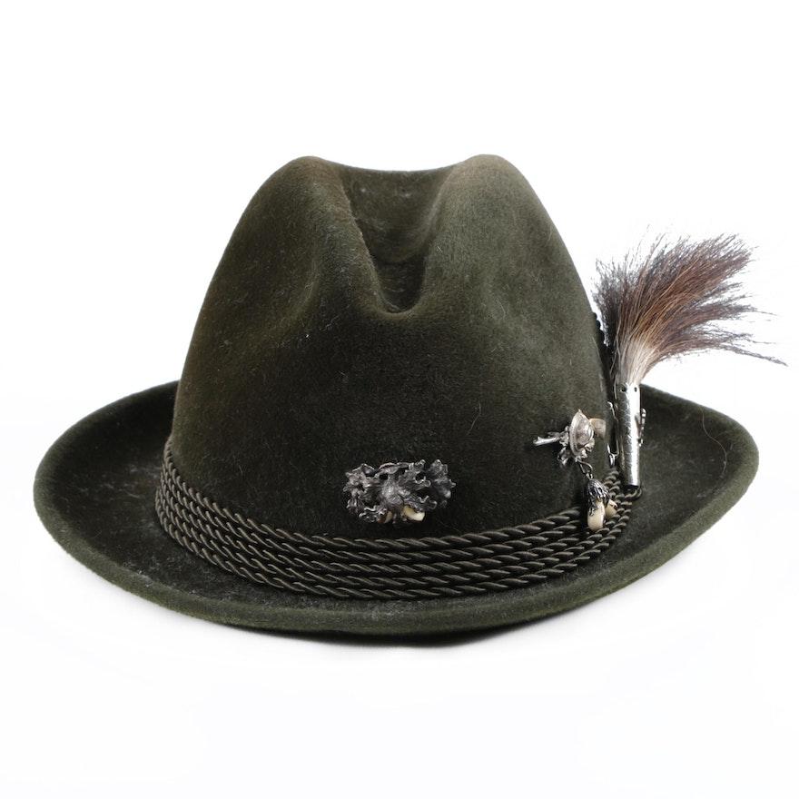 d7d7933af09ad Vintage Ottmar Reich Fur Felt Fedora Hat