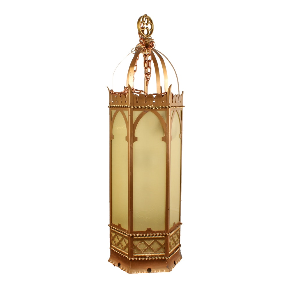 Vintage Gothic Revival Style Pendant Lantern Light