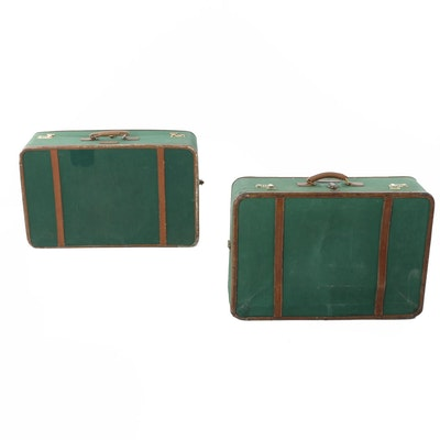 Vintage T. Anthony Ltd. Large Green Pullman Suitcases