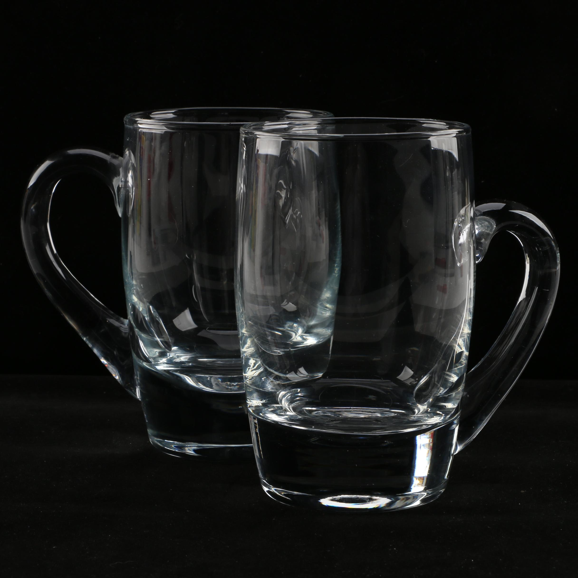 Pair of Glass Belgian Mugs