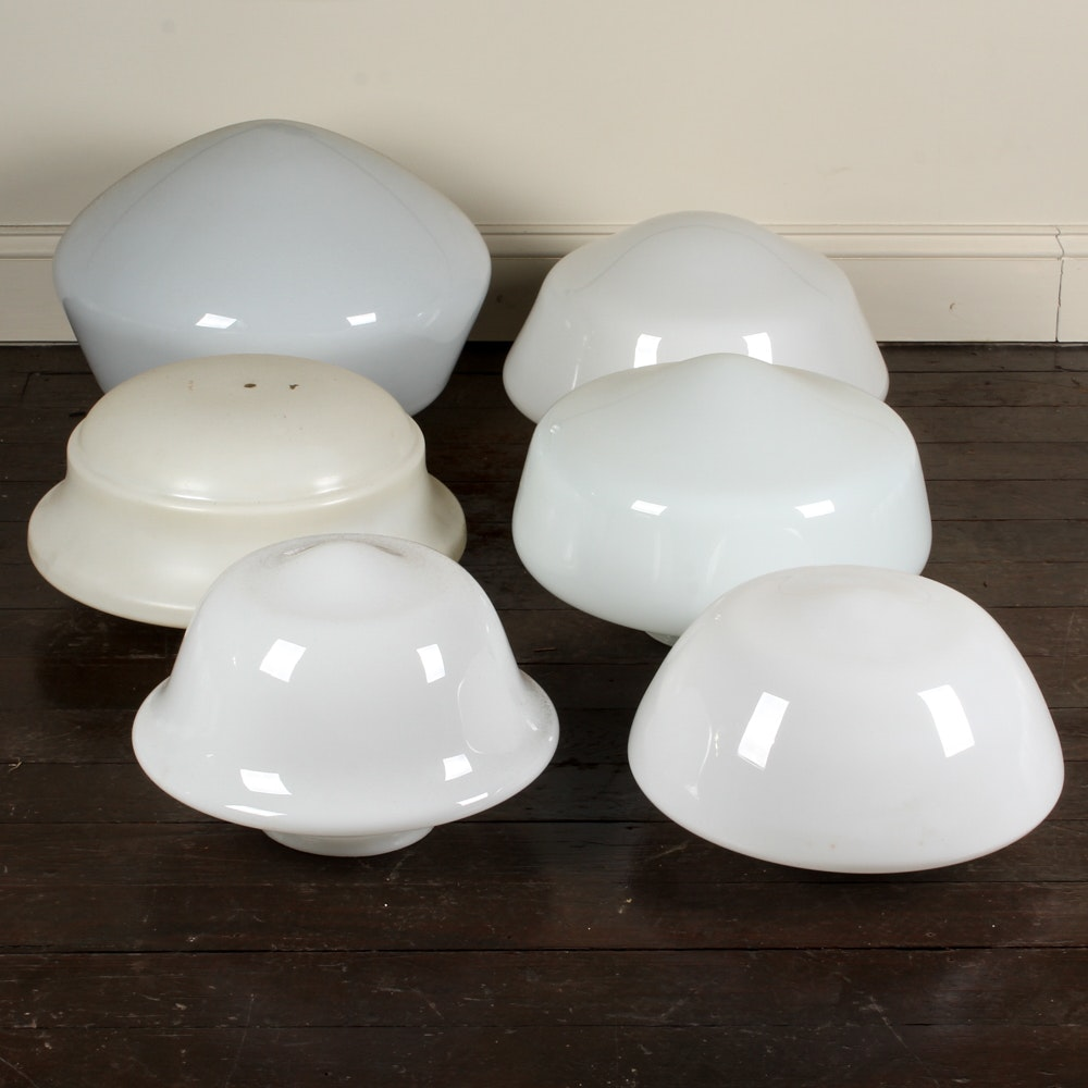 Milk Glass Globe Light Shades