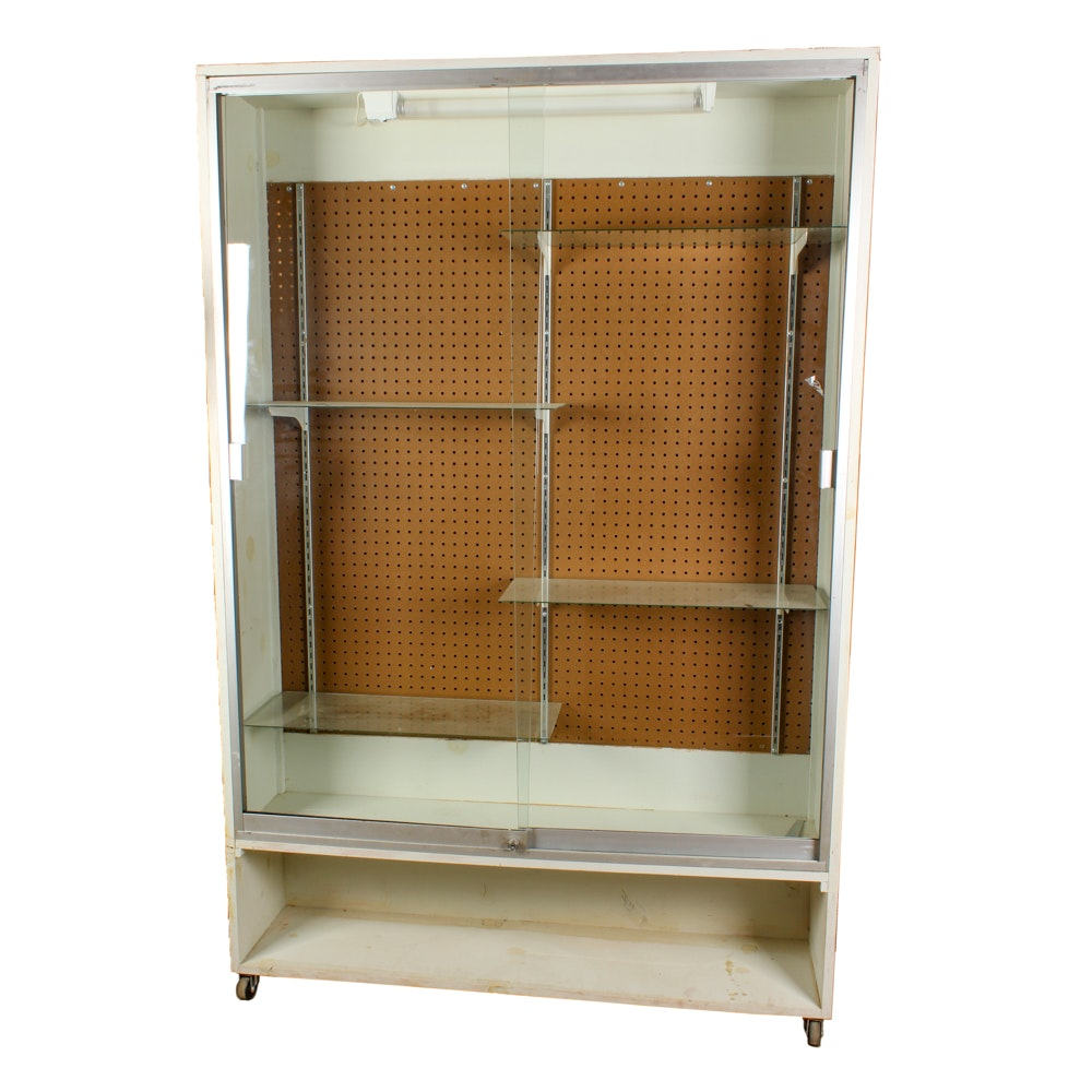 Glass and Composite Wood Display Case