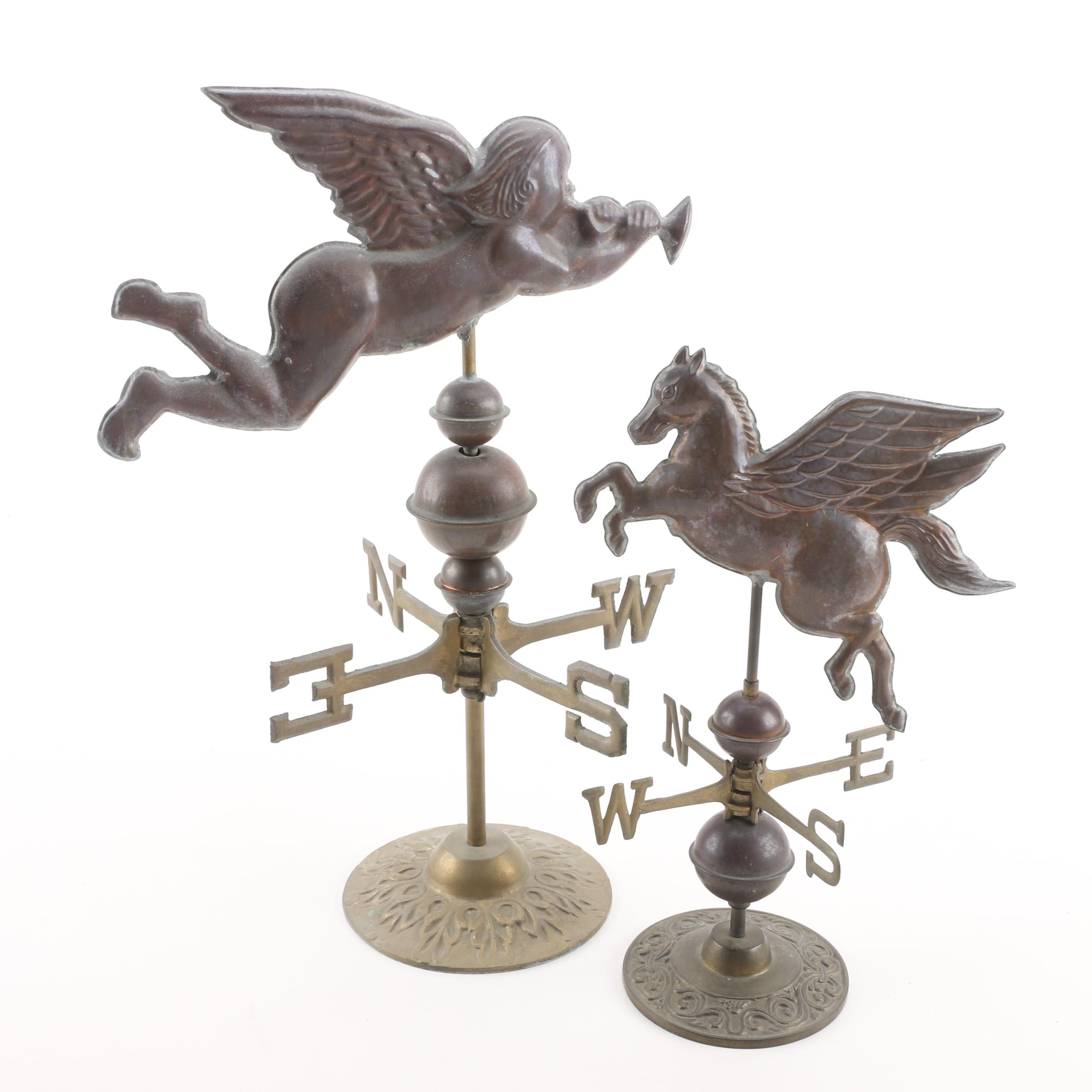 Cherub and Pegasus Small Weather Vanes