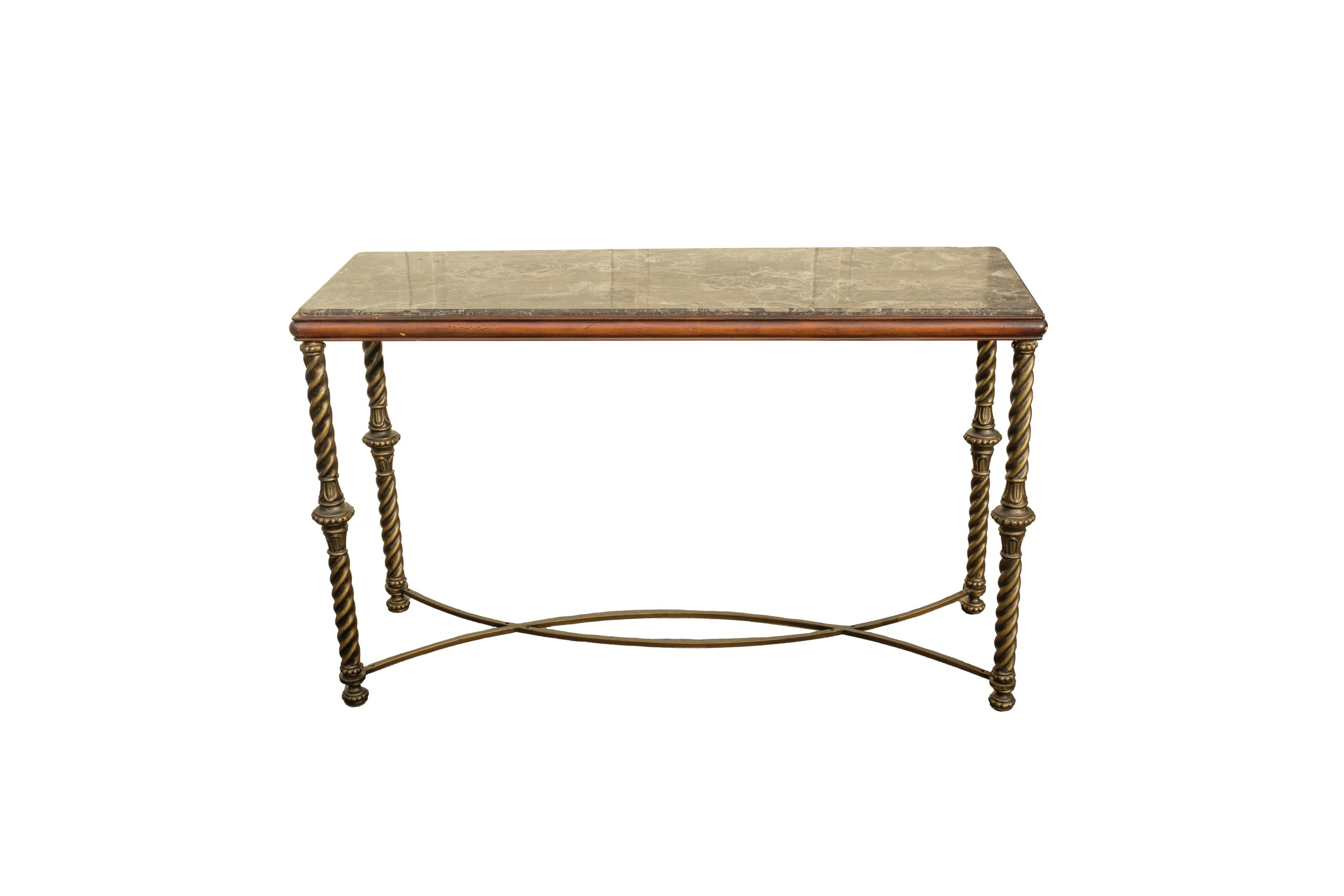 Contemporary Console Table with Mosaic Marble Top