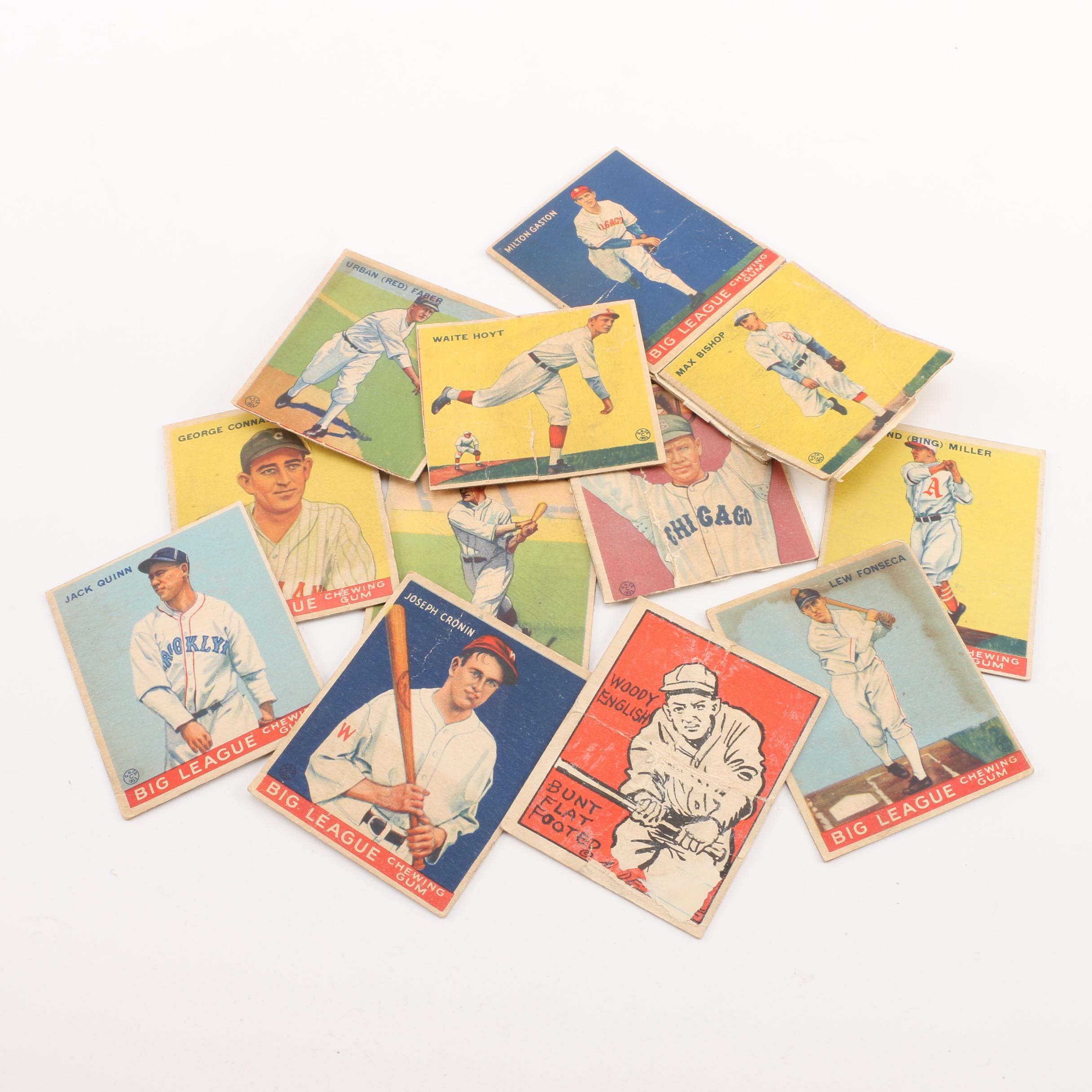 1933 Goudey Baseball Cards Including Waite Hoyt