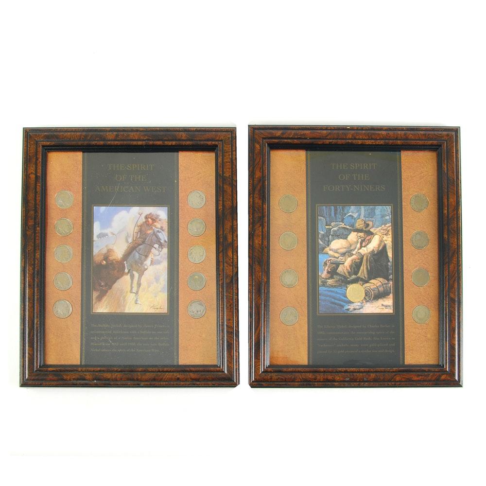 """Buffalo and Liberty """"V"""" Nickel Display Sets"""