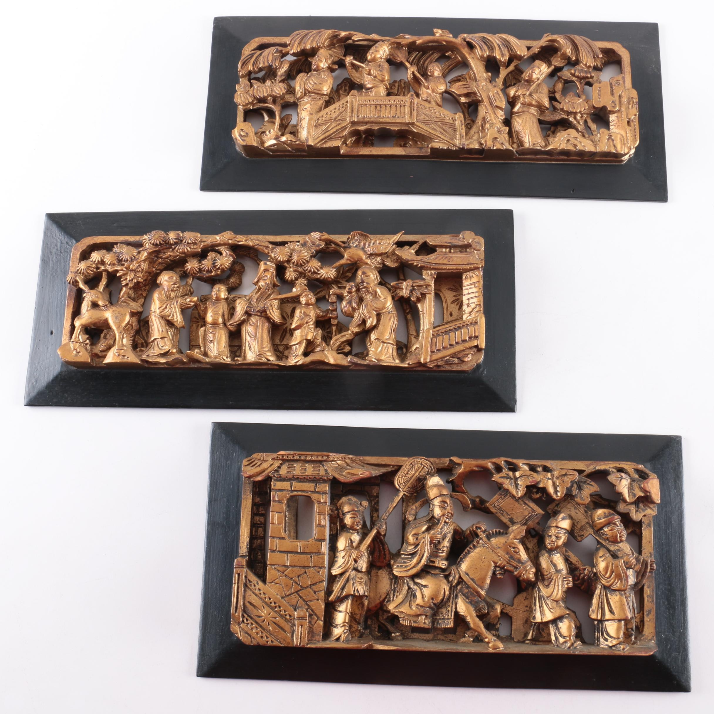Chinese Wooden Relief Carvings