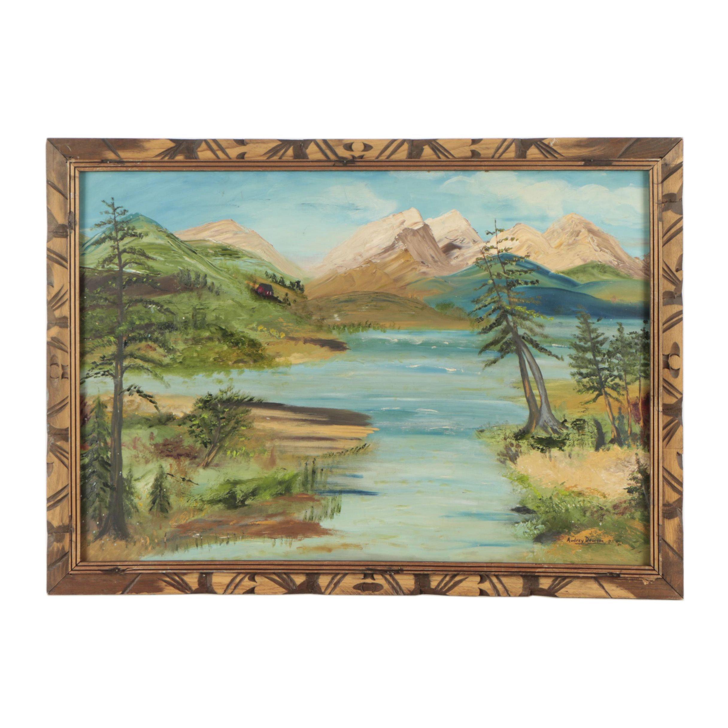 Audrey Dawson Oil Landscape Painting